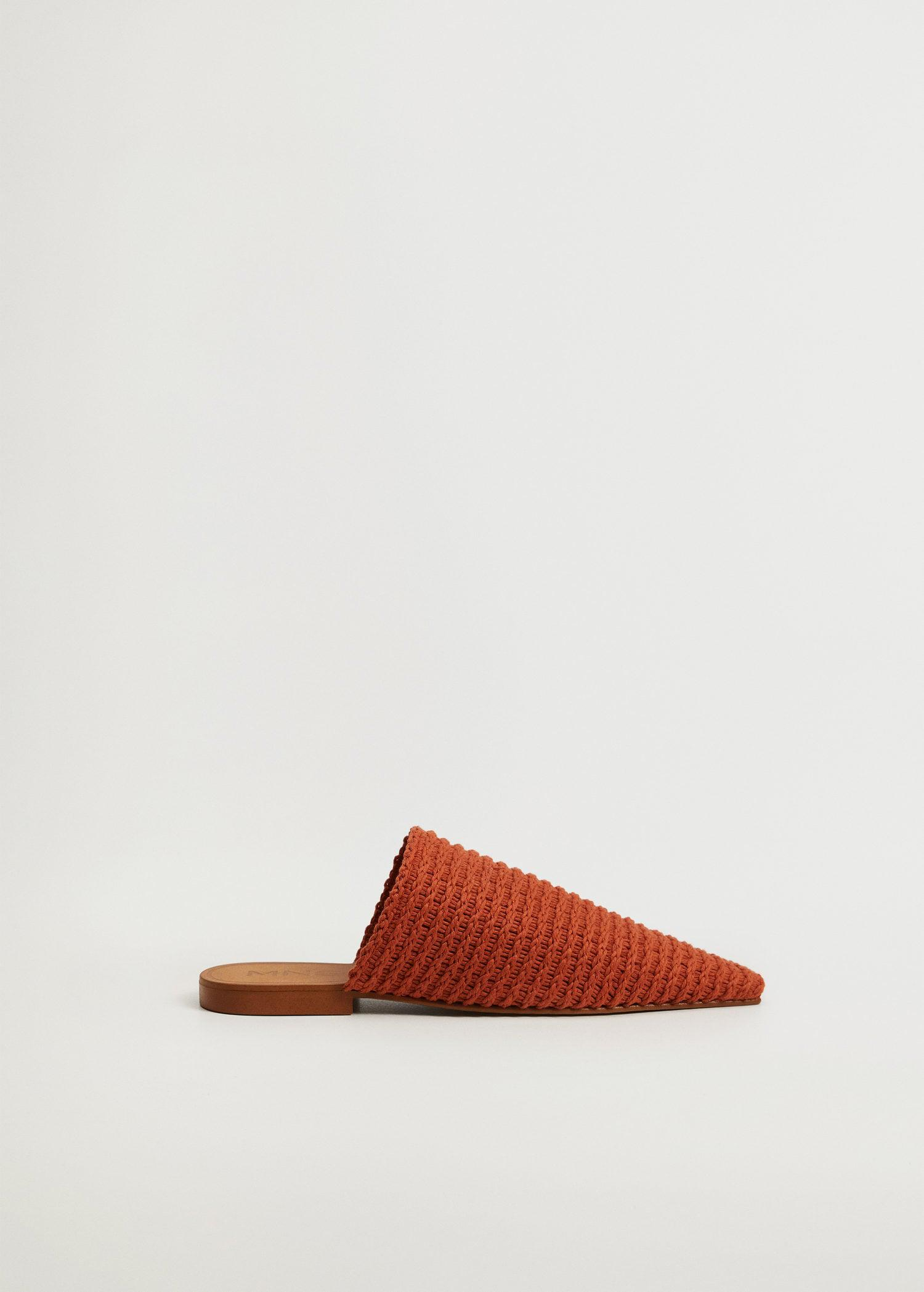 Recycled cotton braided babouche slippers