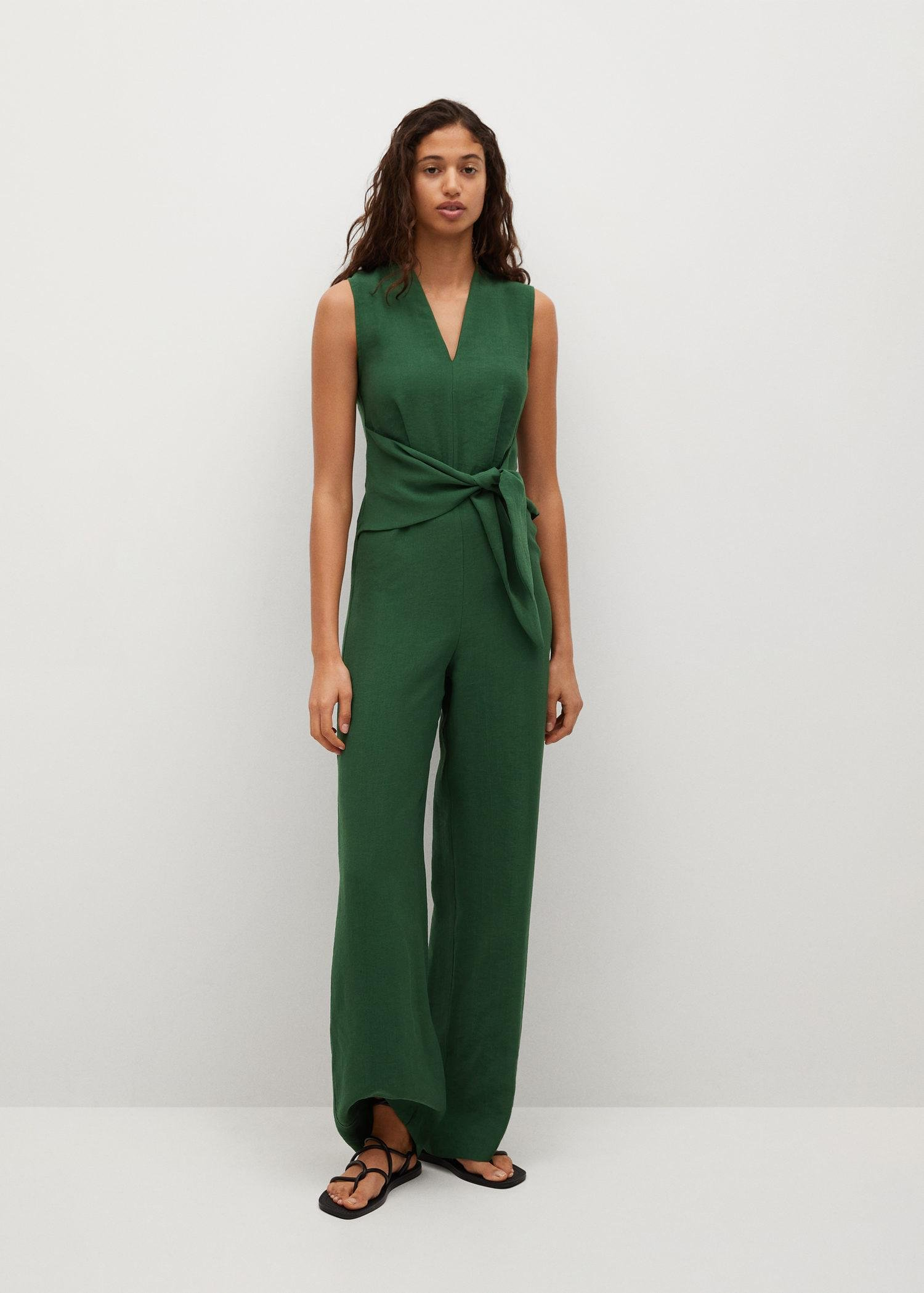 Lyocell jumpsuit with belt 1