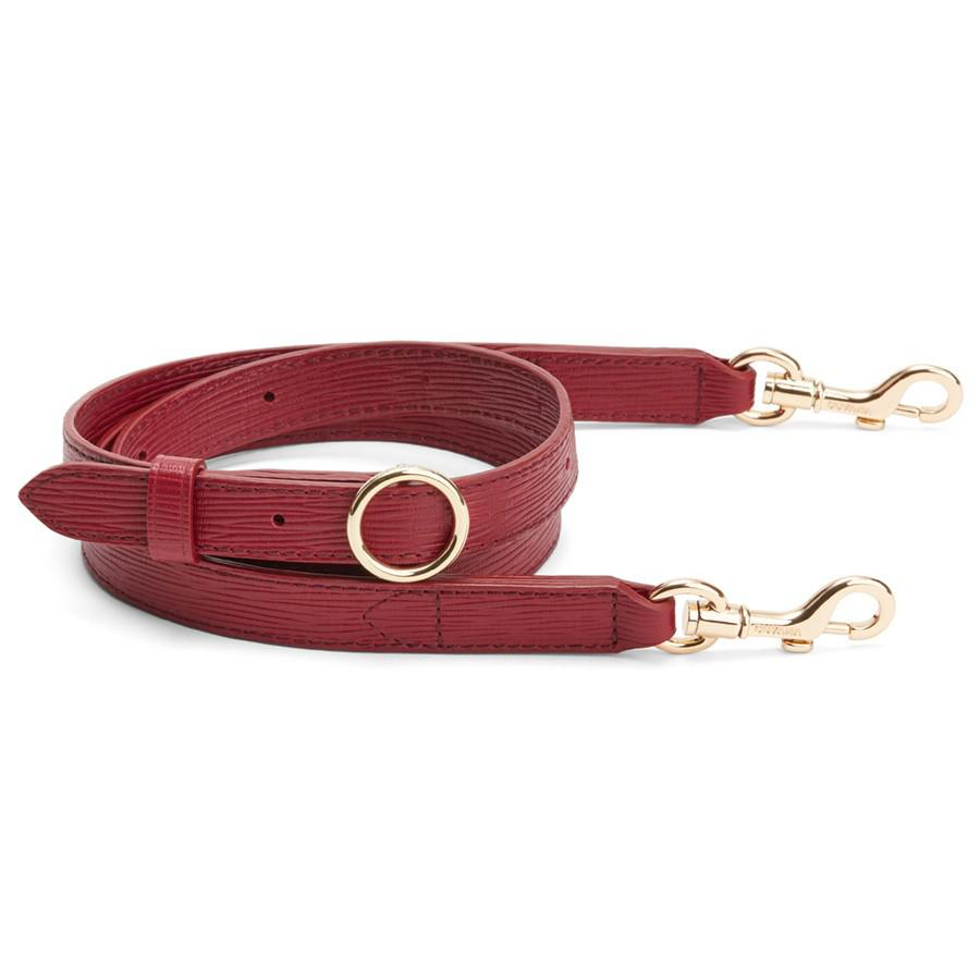 Women's Adjustable Strap in Red | Textured Leather by Cuyana