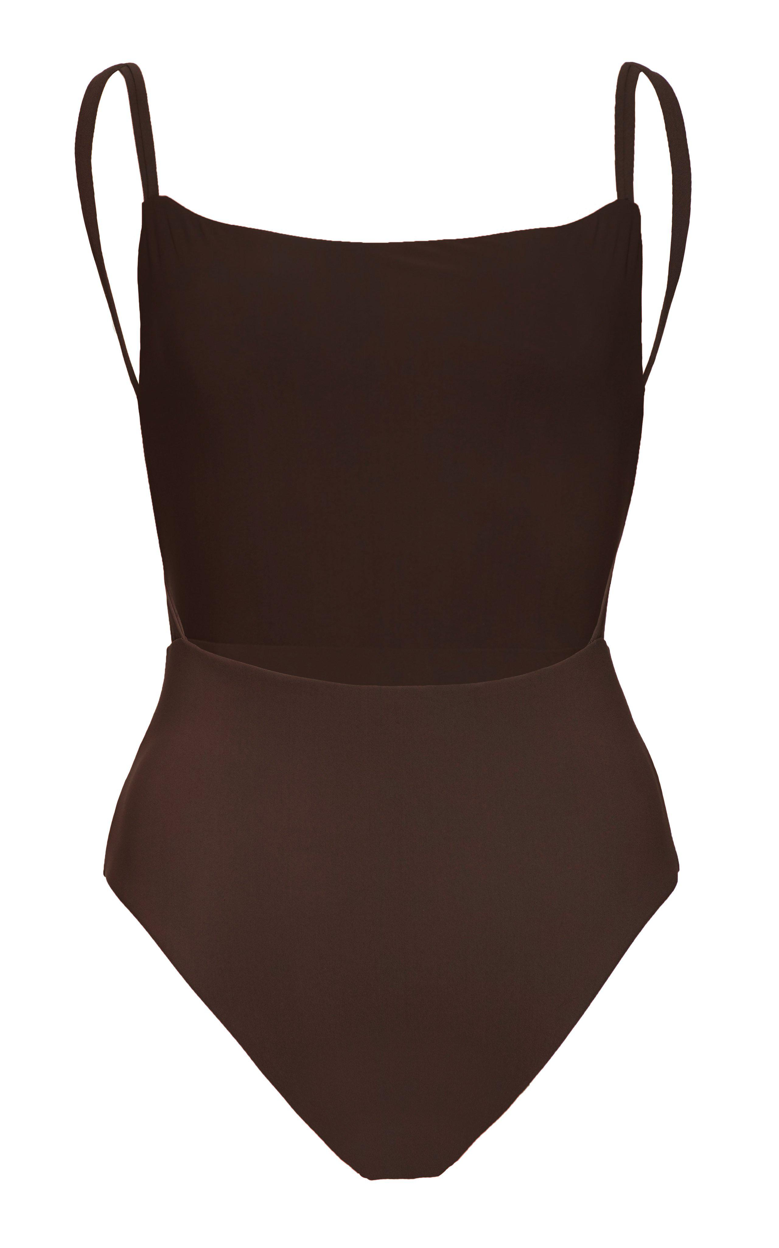 The Square Neck Open Back One Piece 4