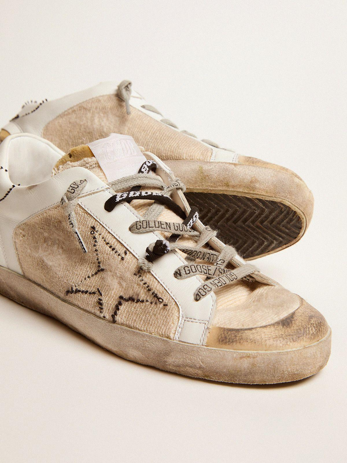 White and beige inside out Super-Star sneakers 2