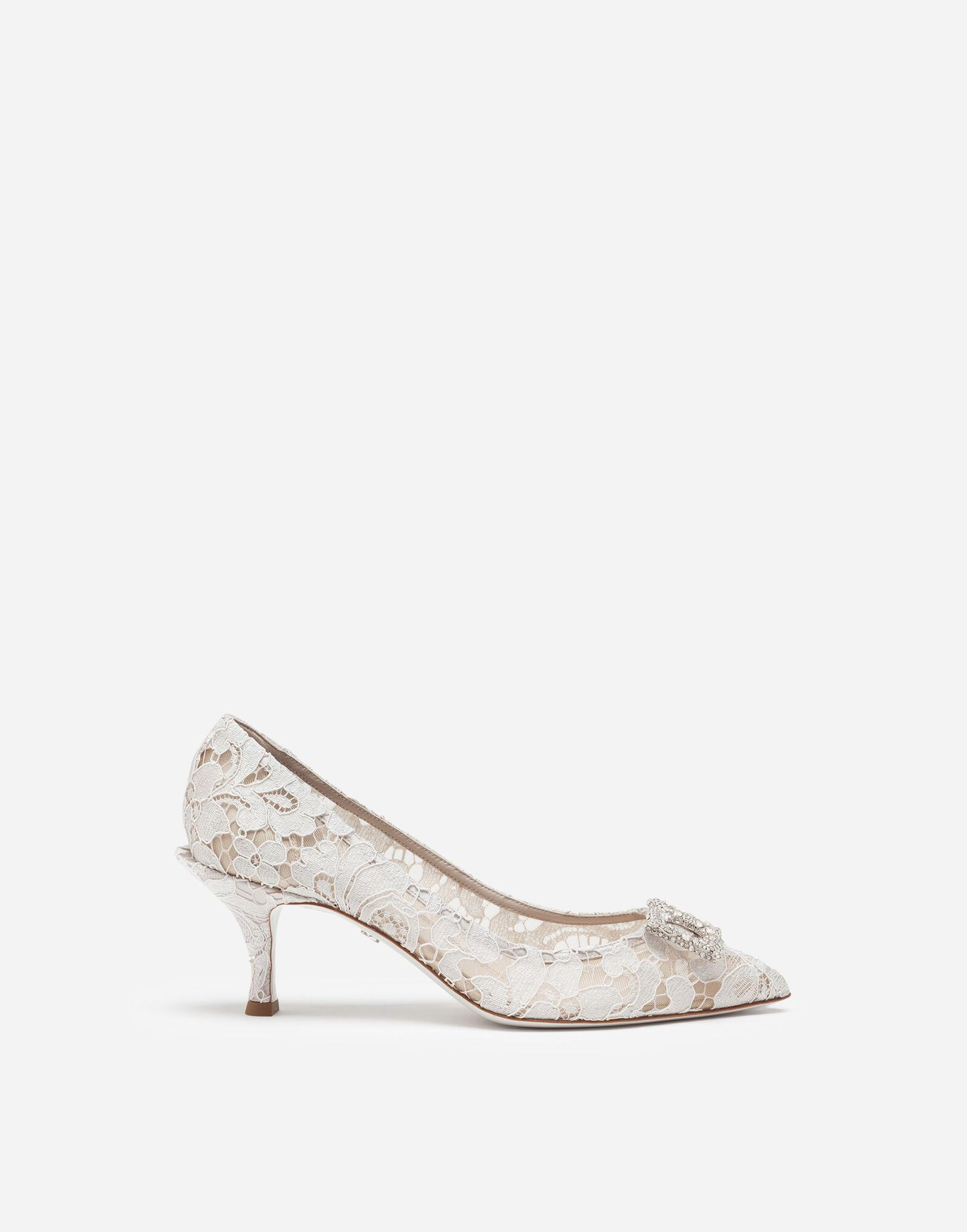 Taormina lace pumps with DG Amore logo