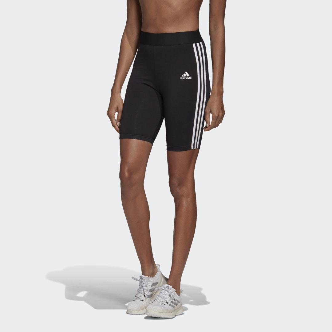 Must Haves 3-Stripes Short Tights Black XS - Womens Training Pants