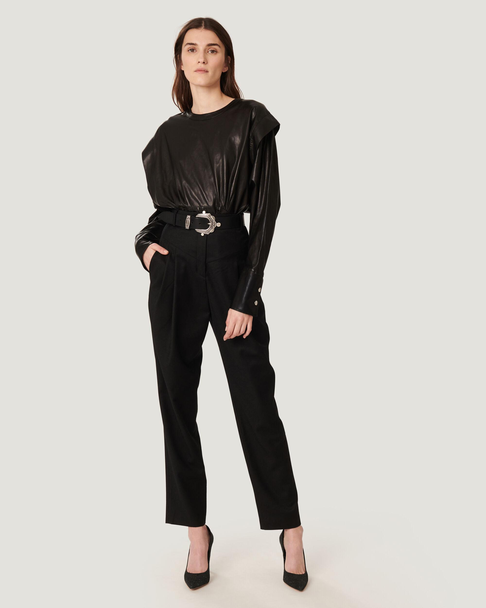 AYASIN PLEATED ANKLE TROUSER PANTS