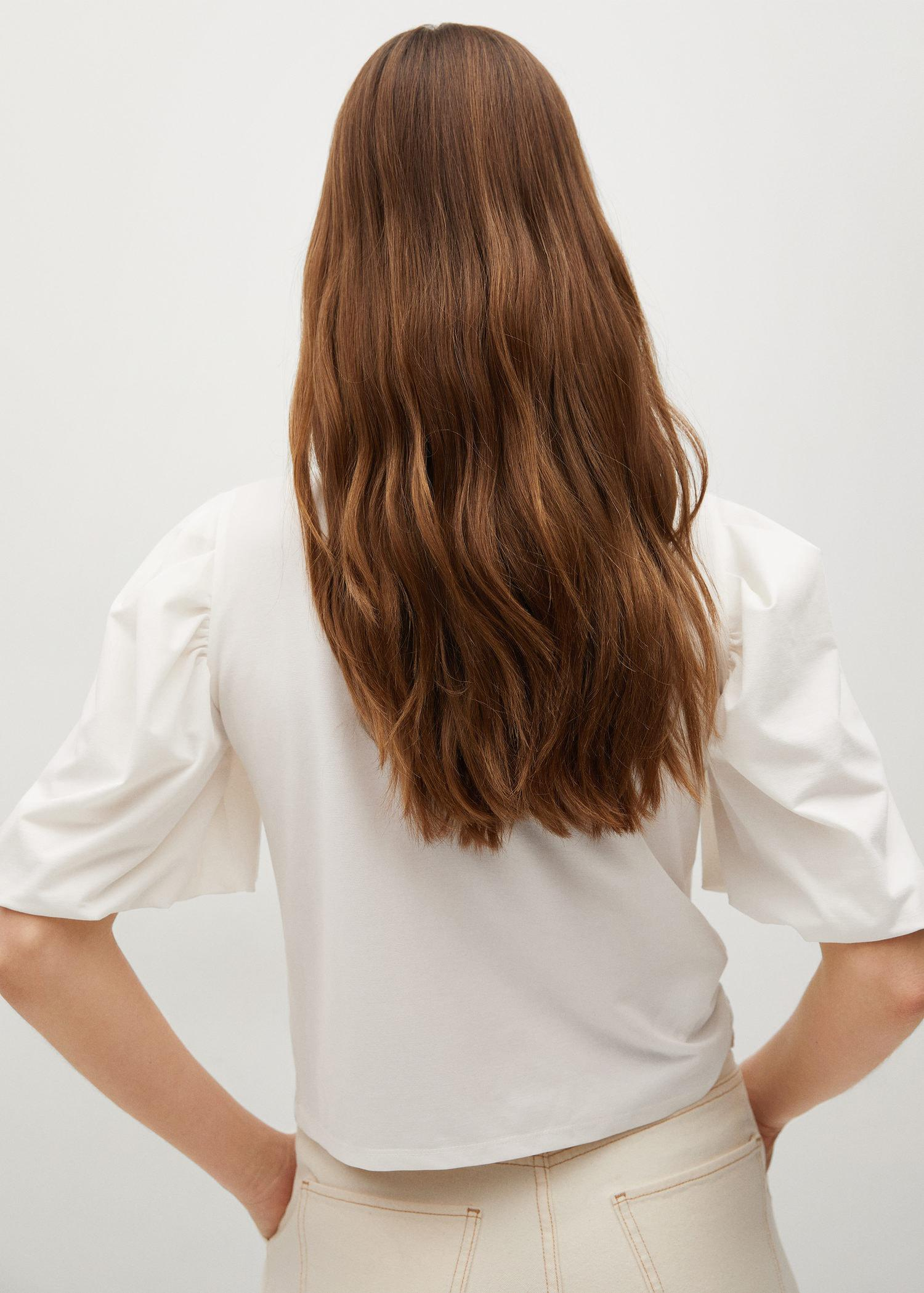 T-shirt with puffed sleeves 2