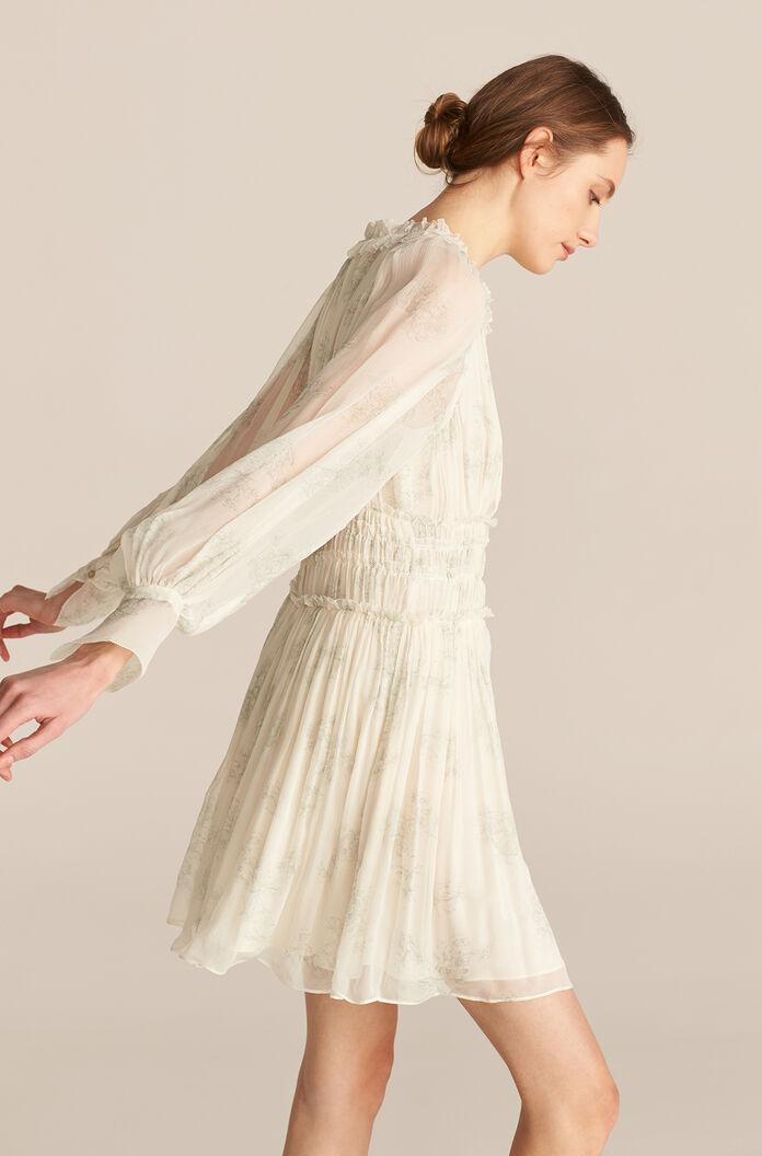 LONG SLEEVE TOILE RUCHED DRESS 1