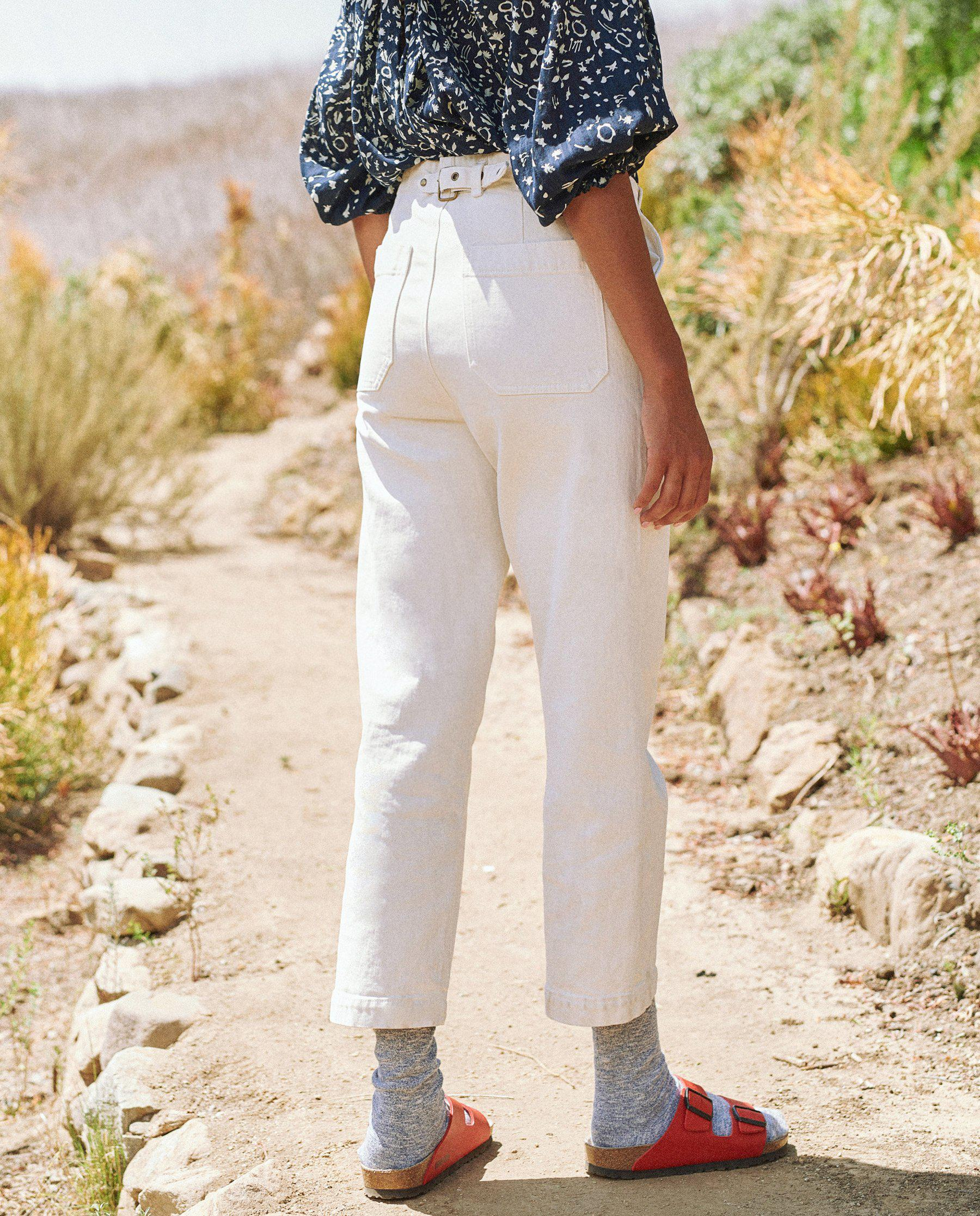 The Buckle Back Trouser. -- Stone 3