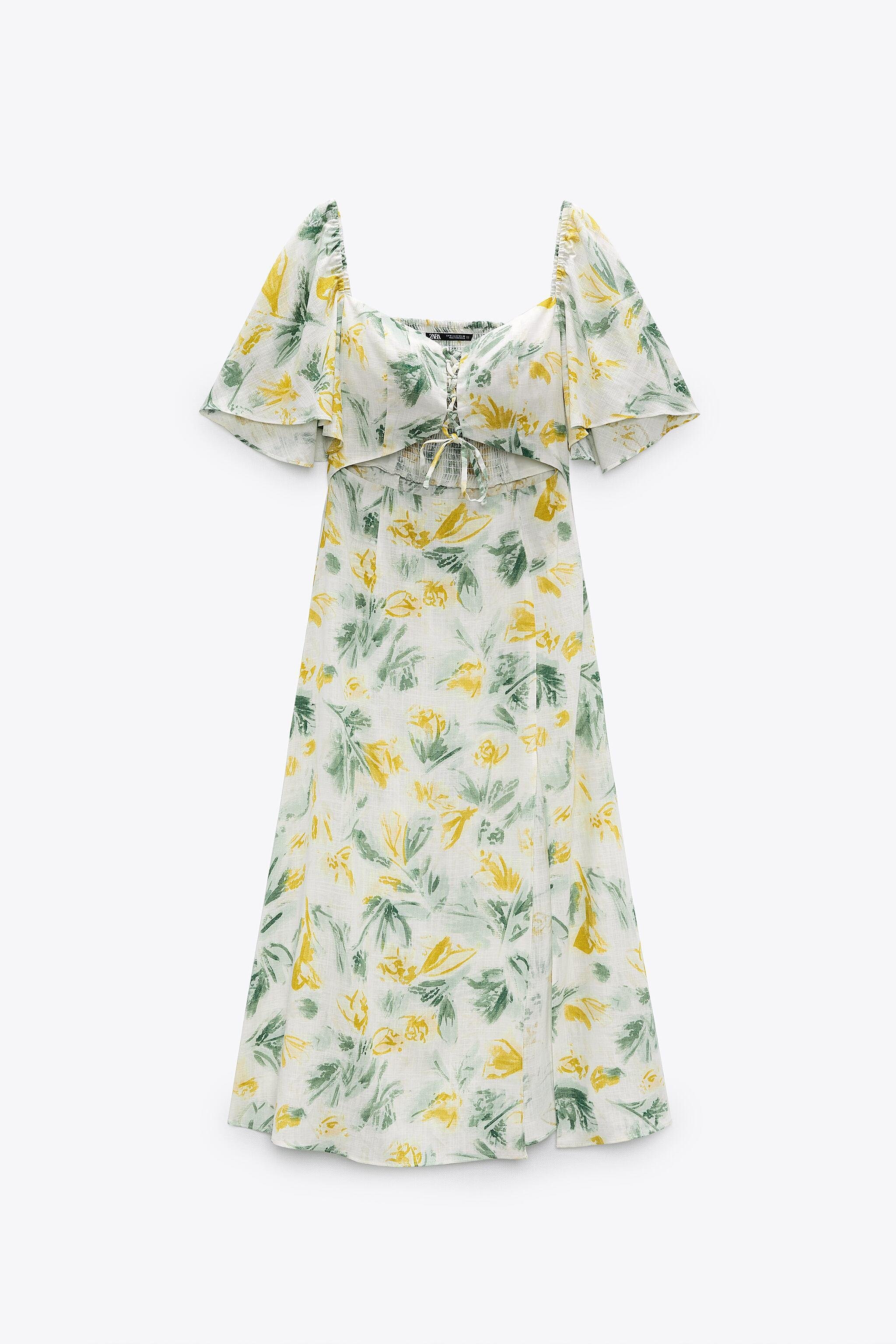 CUT OUT PRINTED DRESS 6