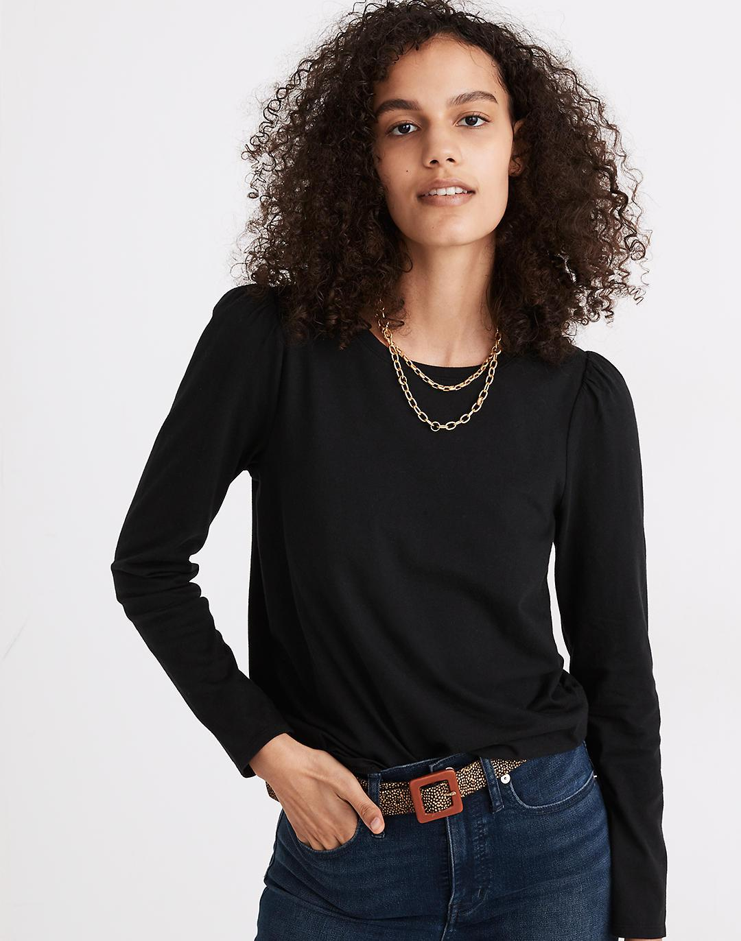(Re)sourced Cotton Puff-Sleeve Tee