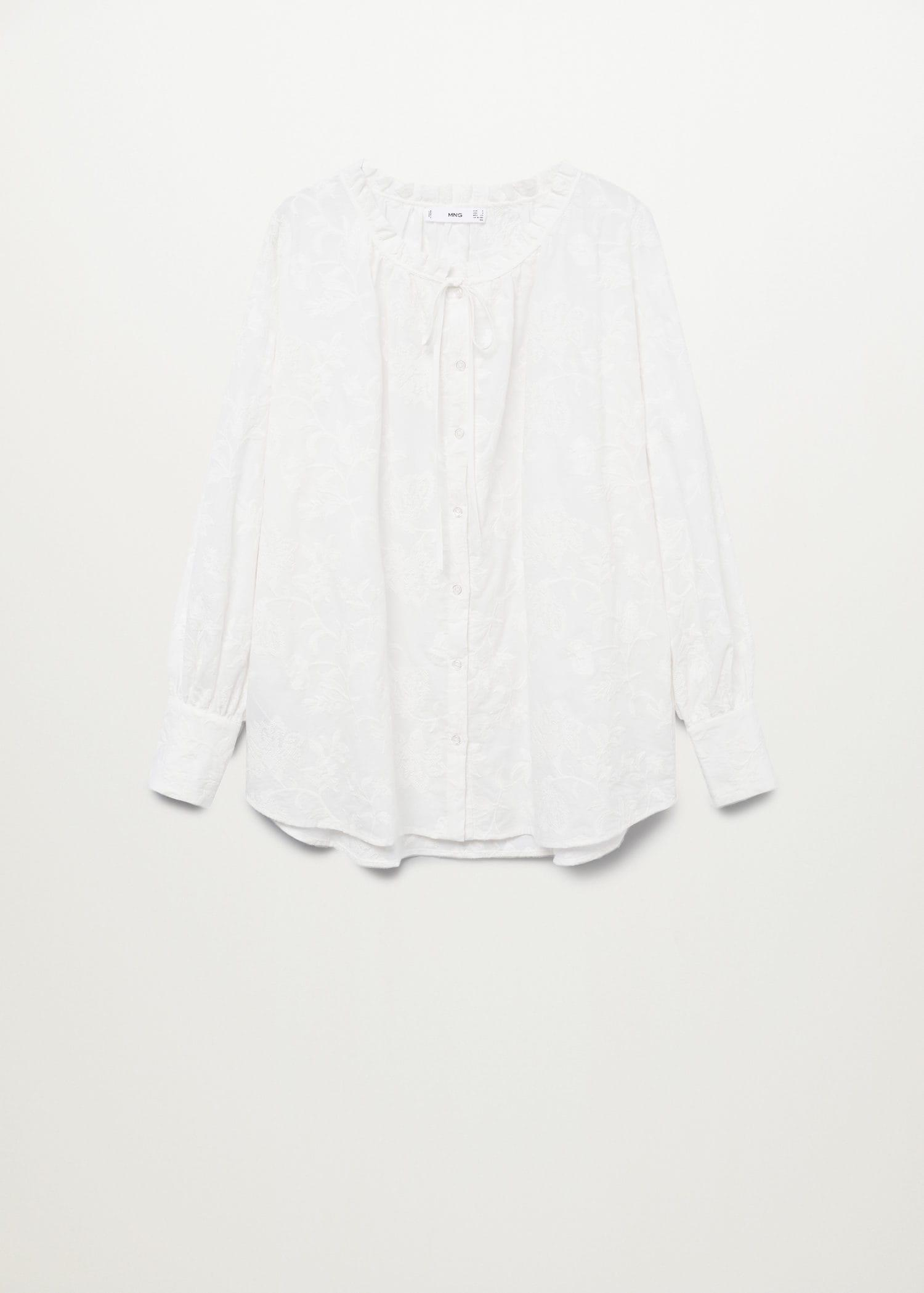 Embroidered cotton blouse 7