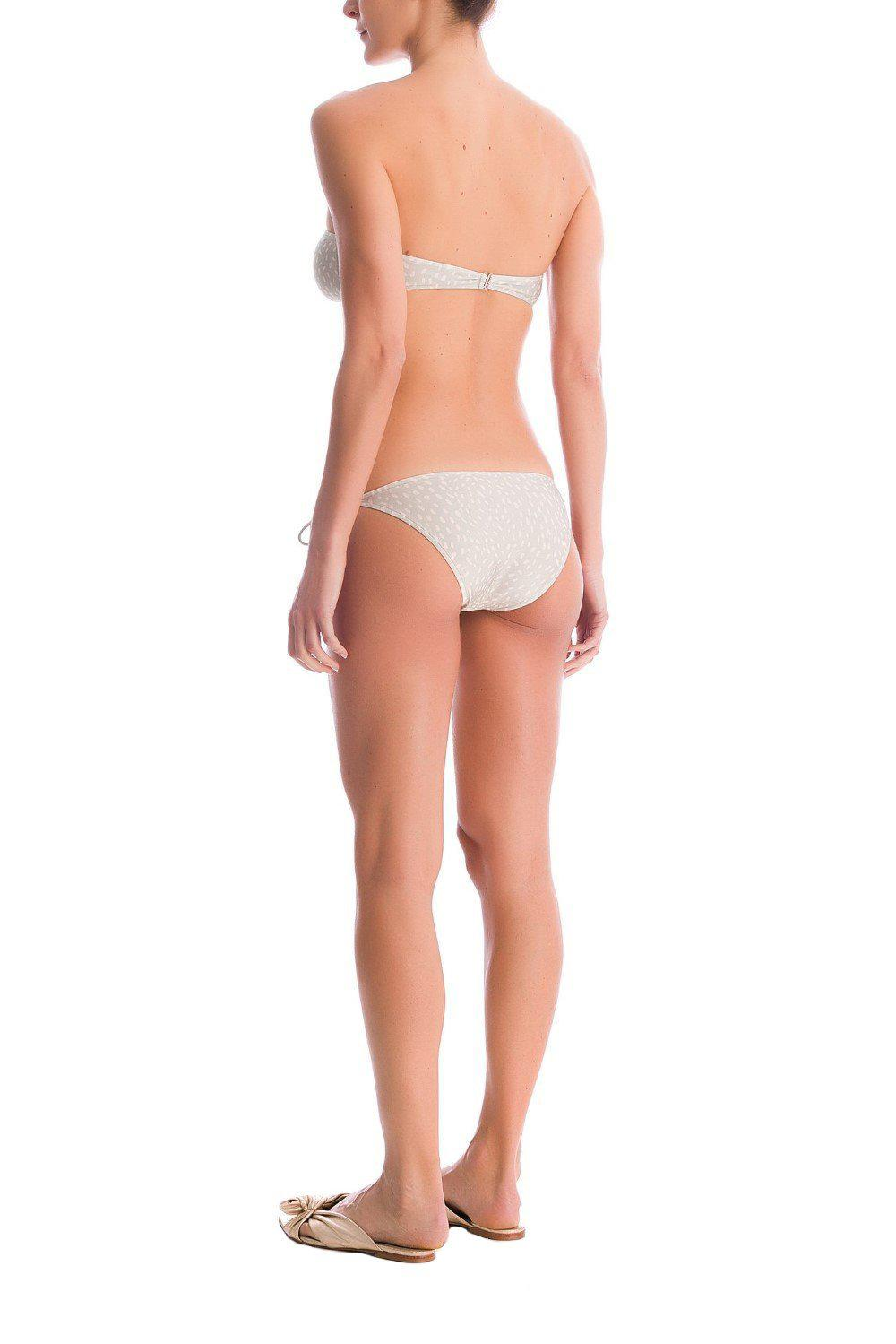 Pollen Strapless Bikini With Buttons 2