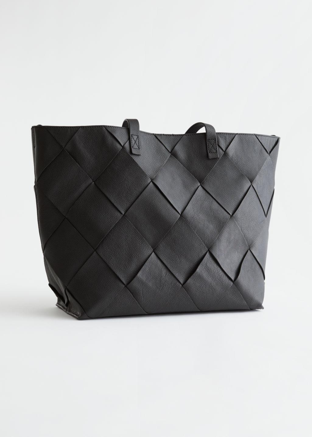 Braided Leather Tote Bag