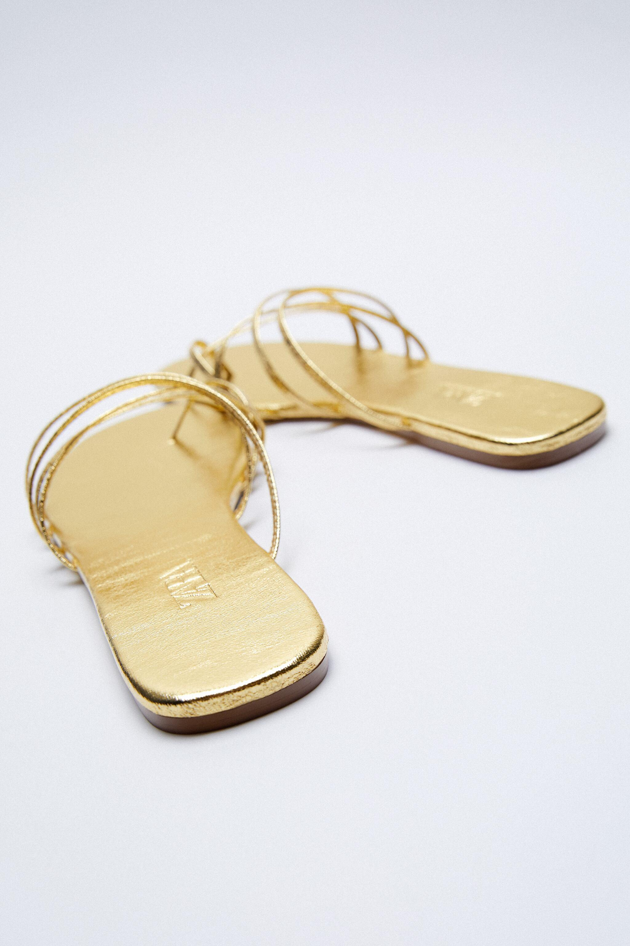 THIN STRAPPY FLAT SANDALS 6
