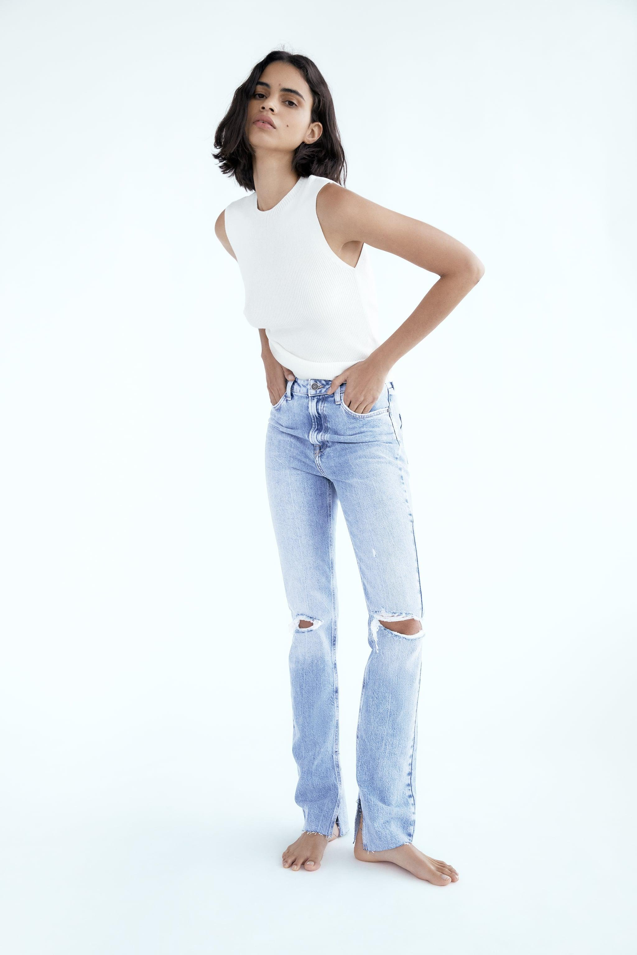 Z1975 FLARED RIPPED SLIM FIT JEANS