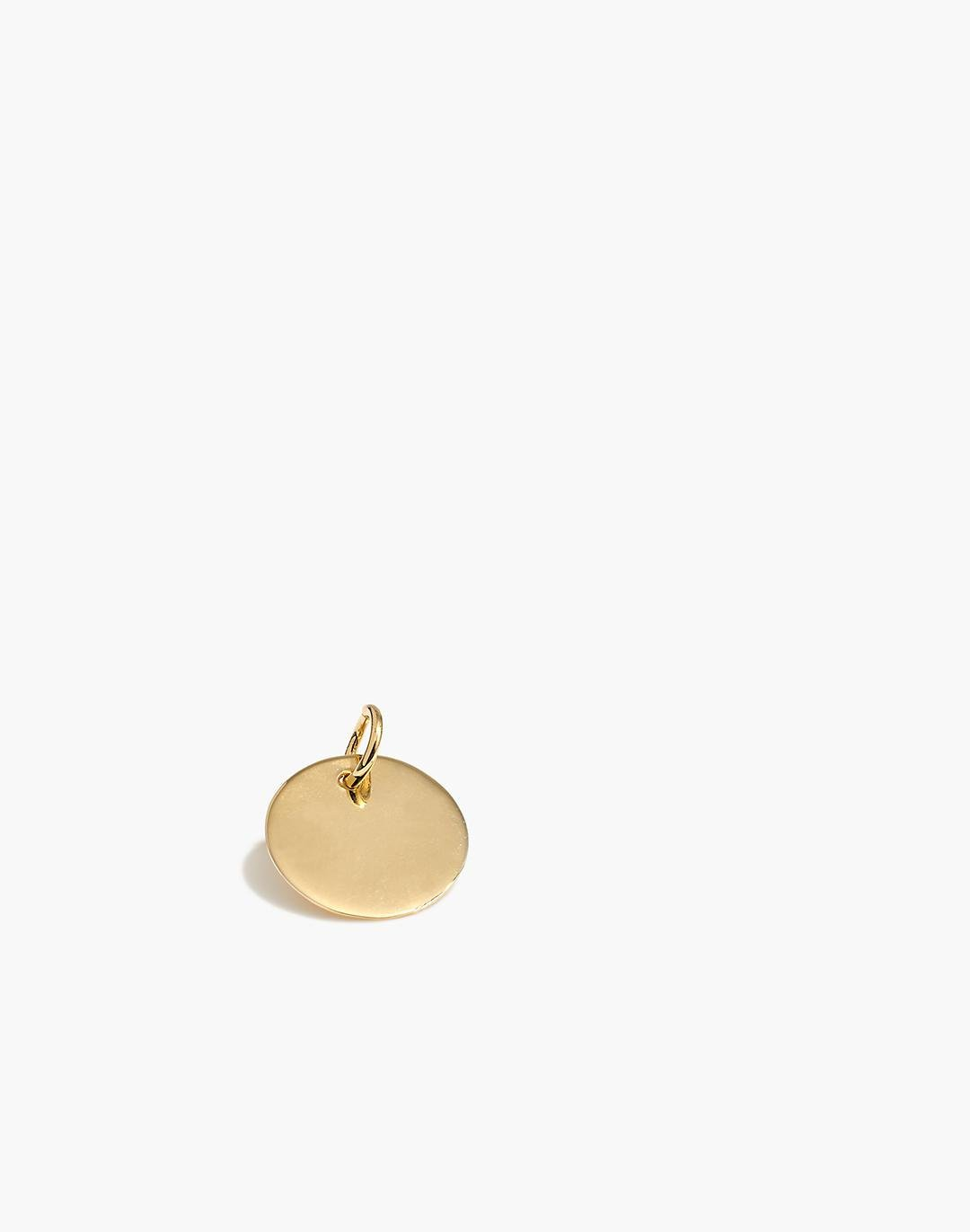 14k Gold Coin Charm