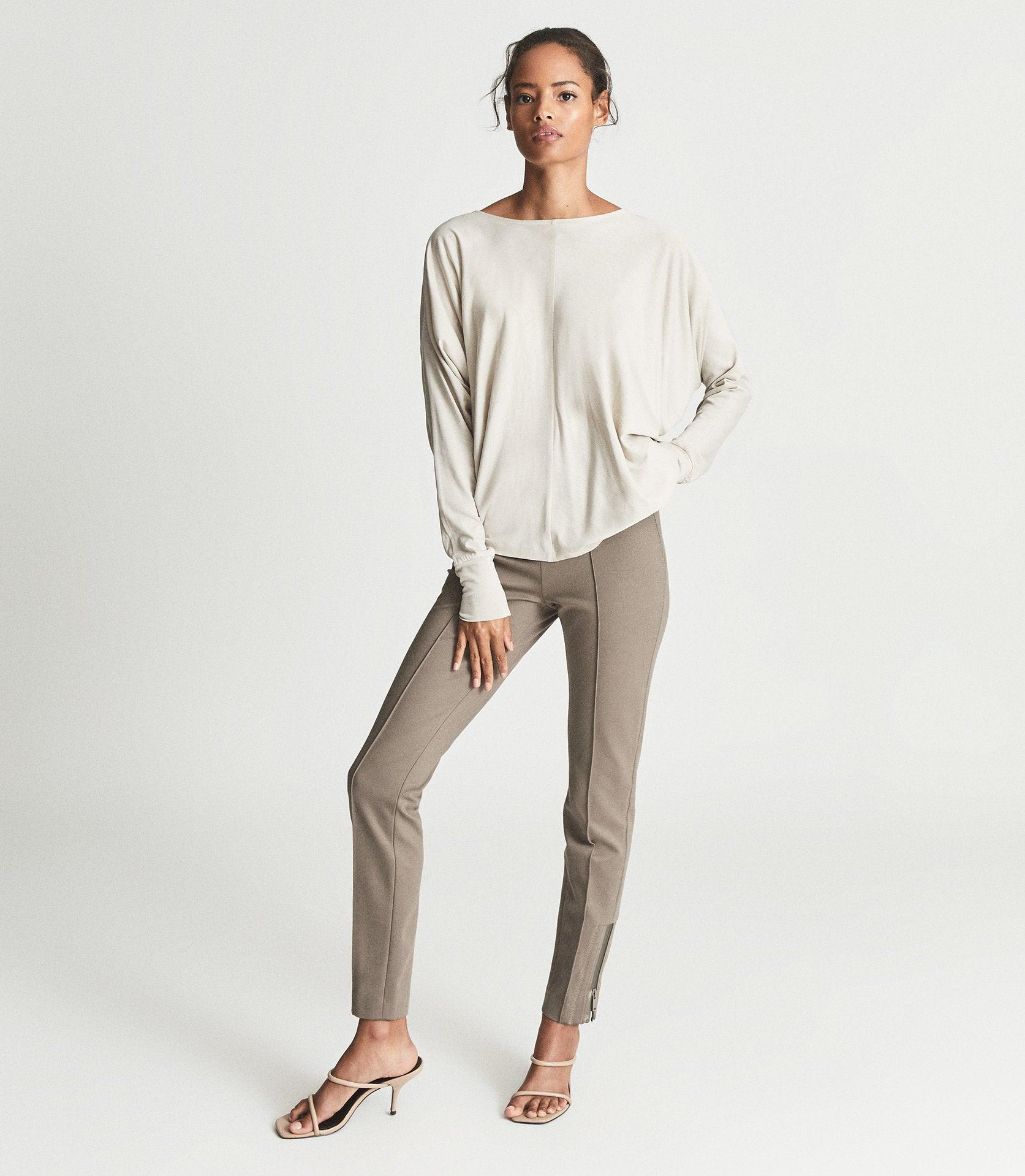 ISLA - PONTE TROUSERS WITH ZIP DETAIL