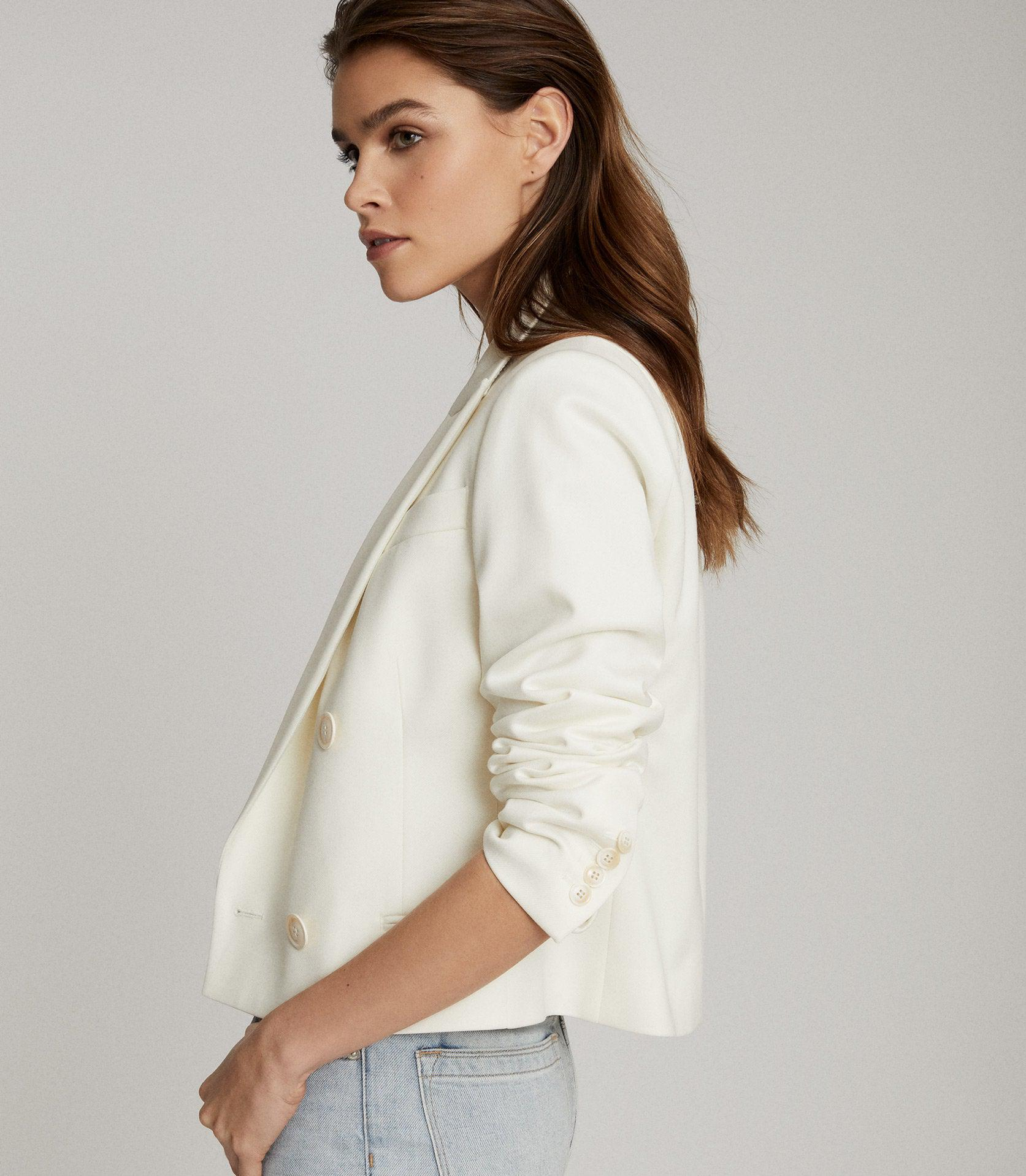 ALEIDA - CROPPED DOUBLE BREASTED BLAZER 2