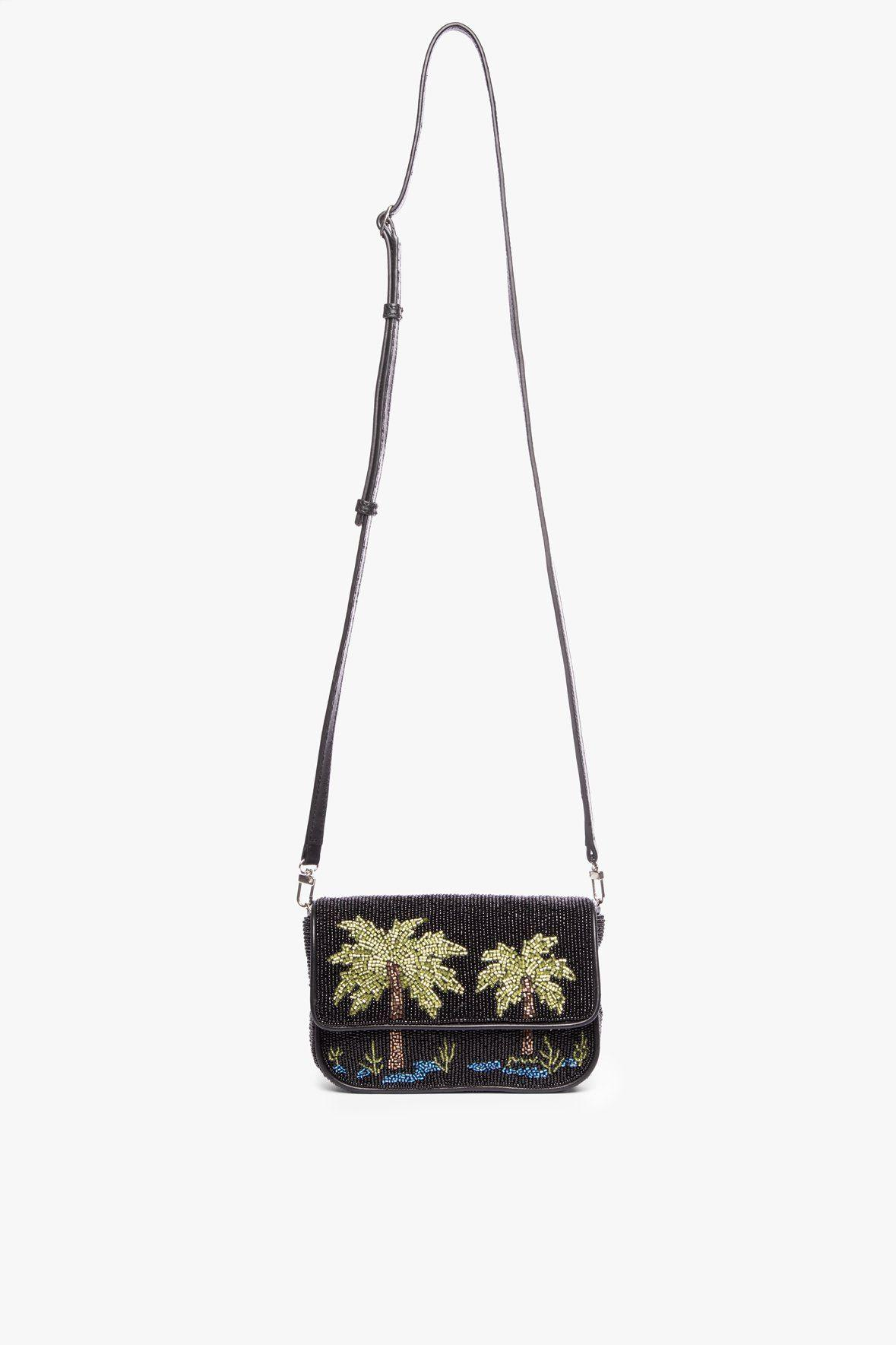 MINI TOMMY BEADED CHAIN BAG | PALM 2