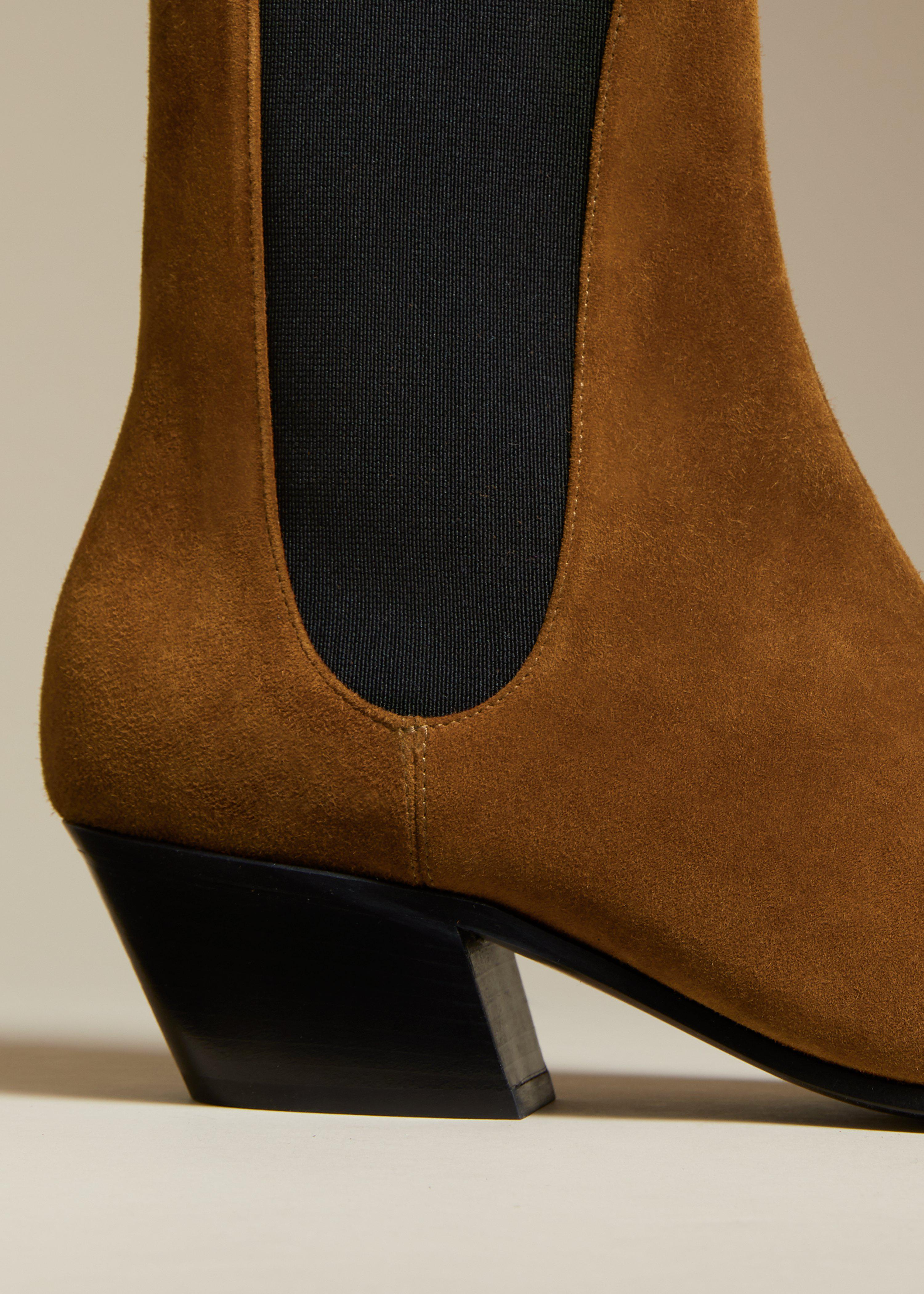 The Saratoga Boot in Caramel Suede 3