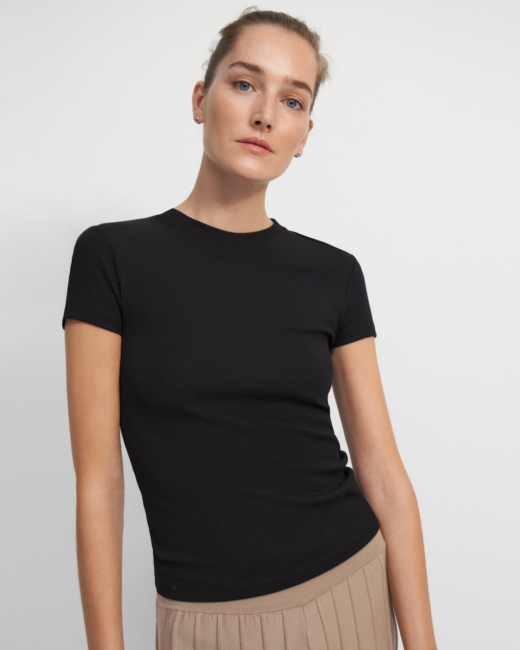Tiny Tee in Ribbed Cotton