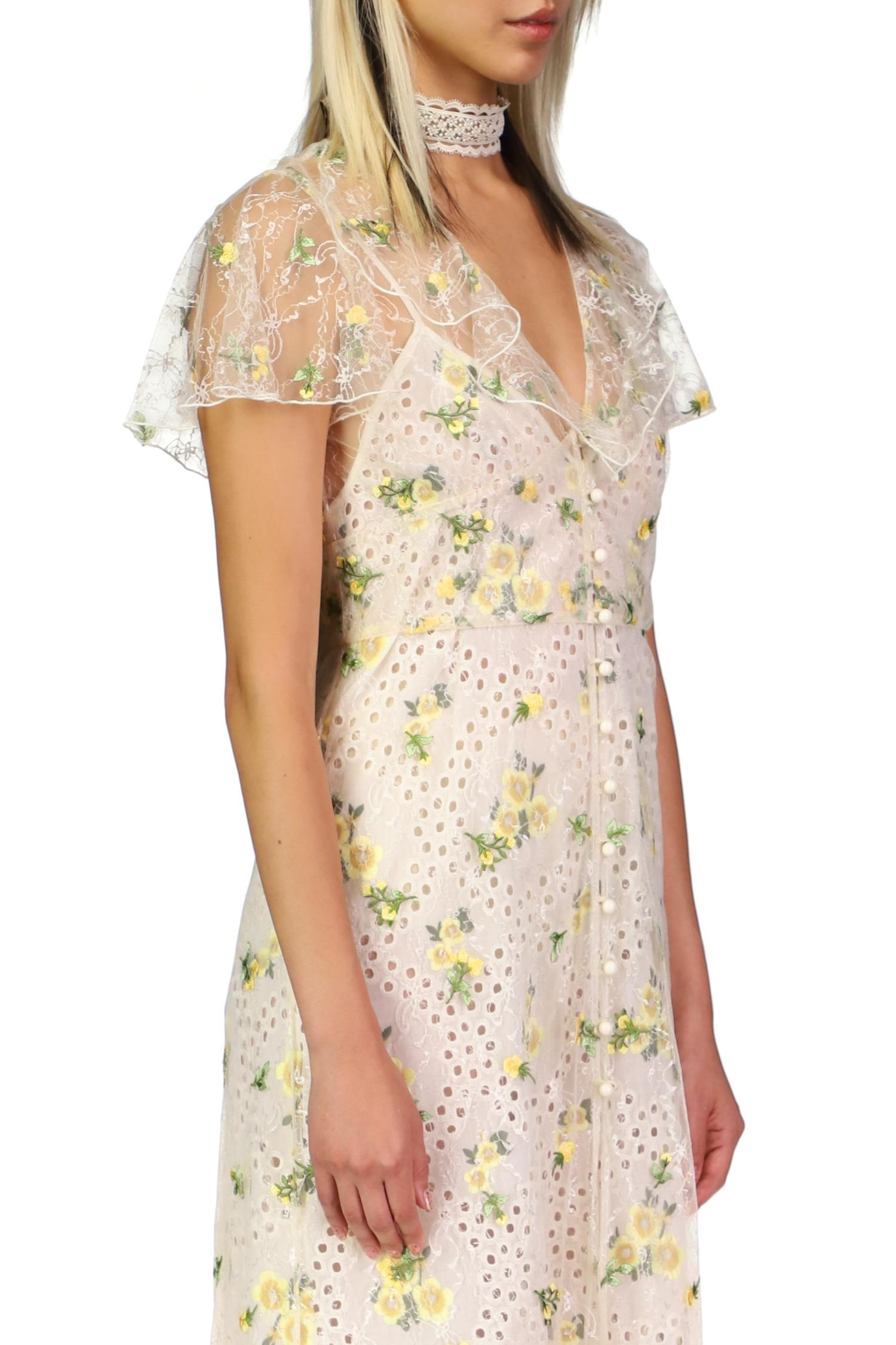 Scattered Blooms Lace Cover Up 2