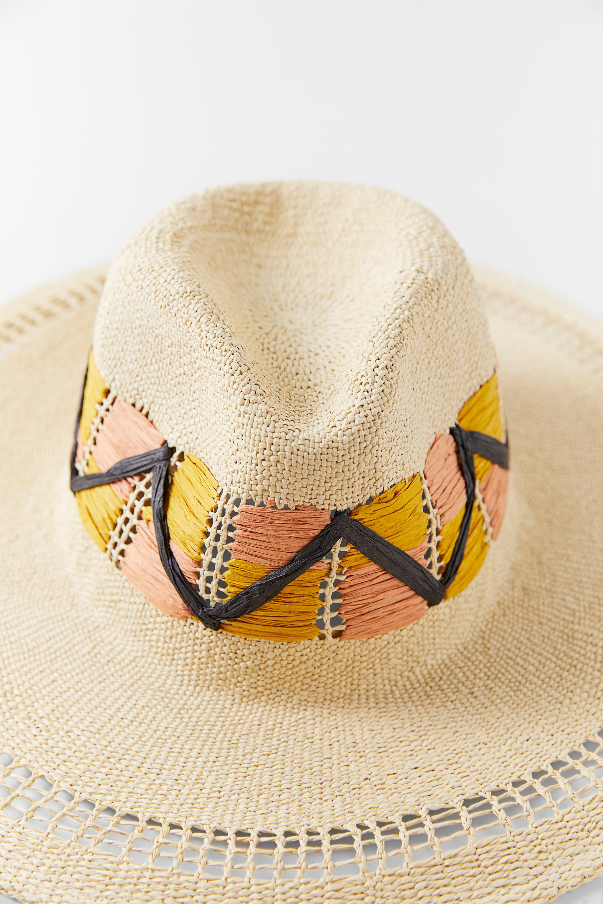 EMBROIDERED WOVEN HAT 1