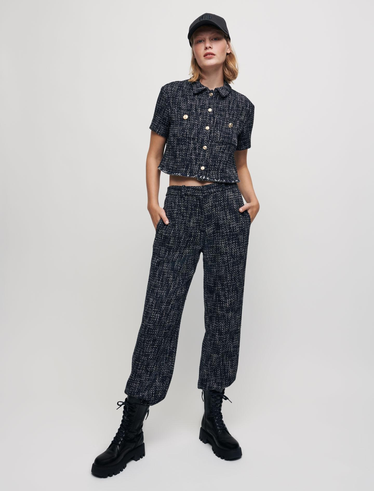 TWEED-STYLE CROPPED SHIRT 2
