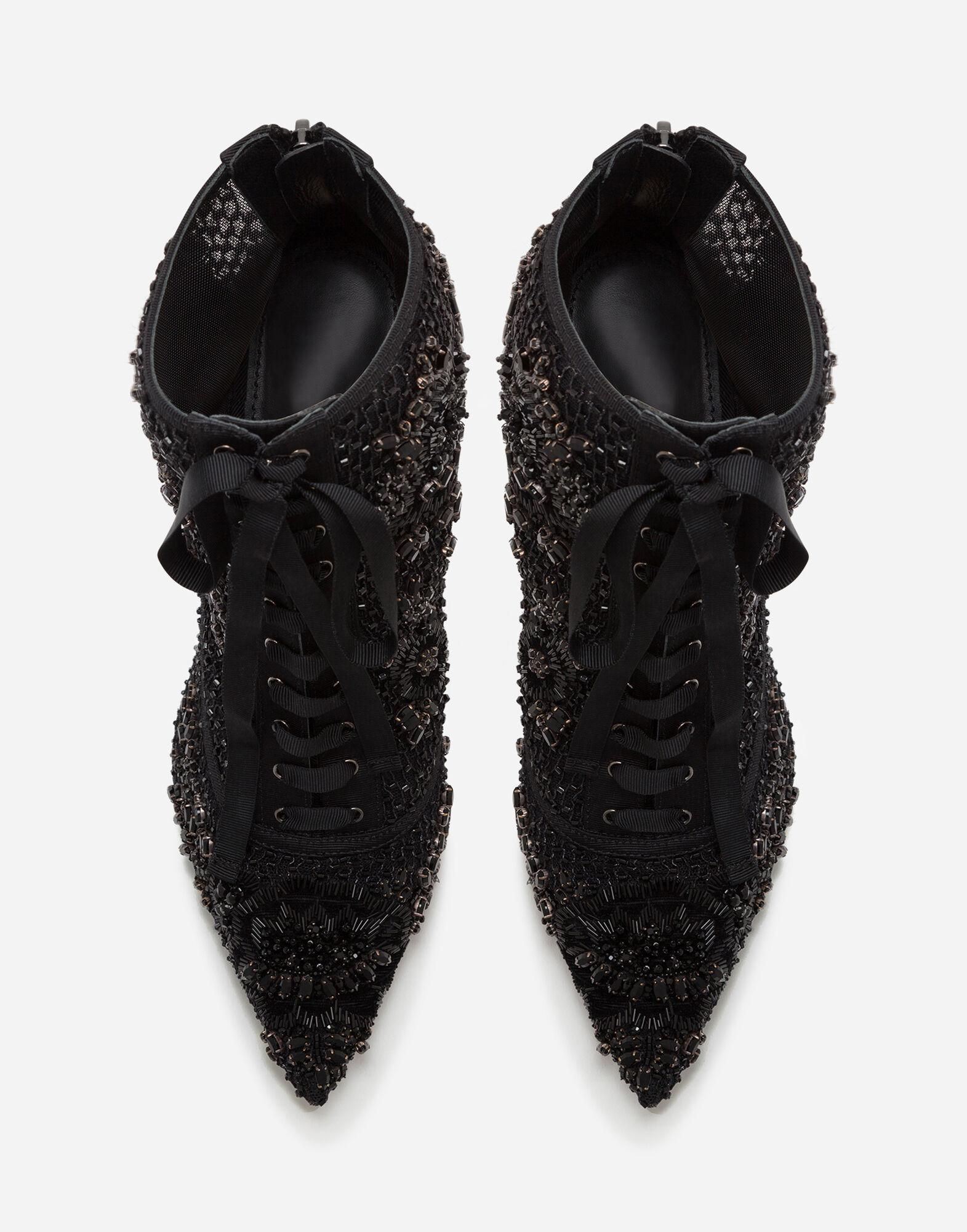 Booties with embroidery, rhinestone and bead embellishment 3