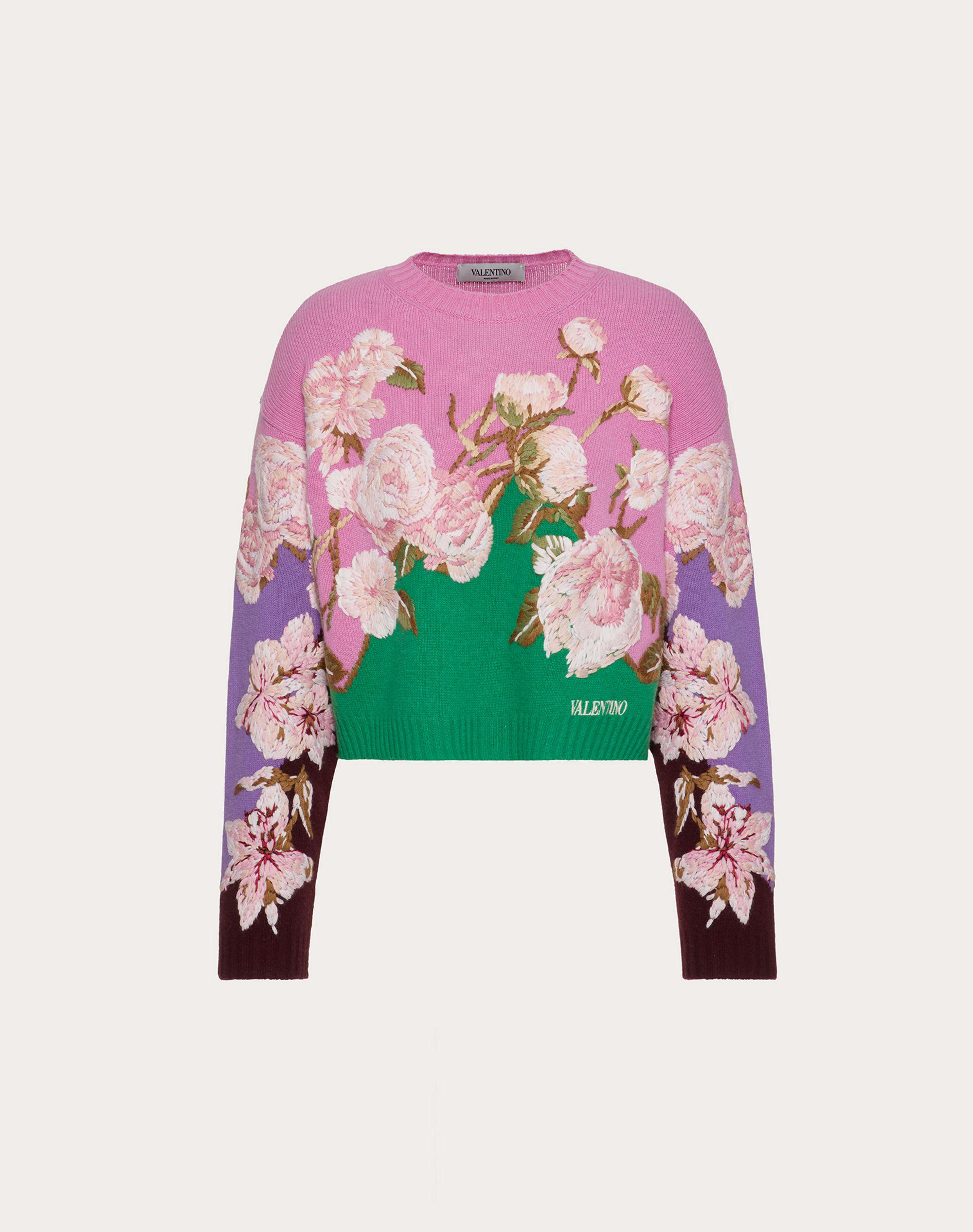 EMBROIDERED CASHMERE WOOL SWEATER 4