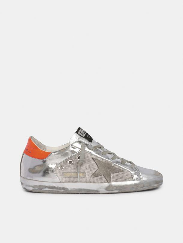 LTD Super-Star sneakers in mesh and silver laminated leather