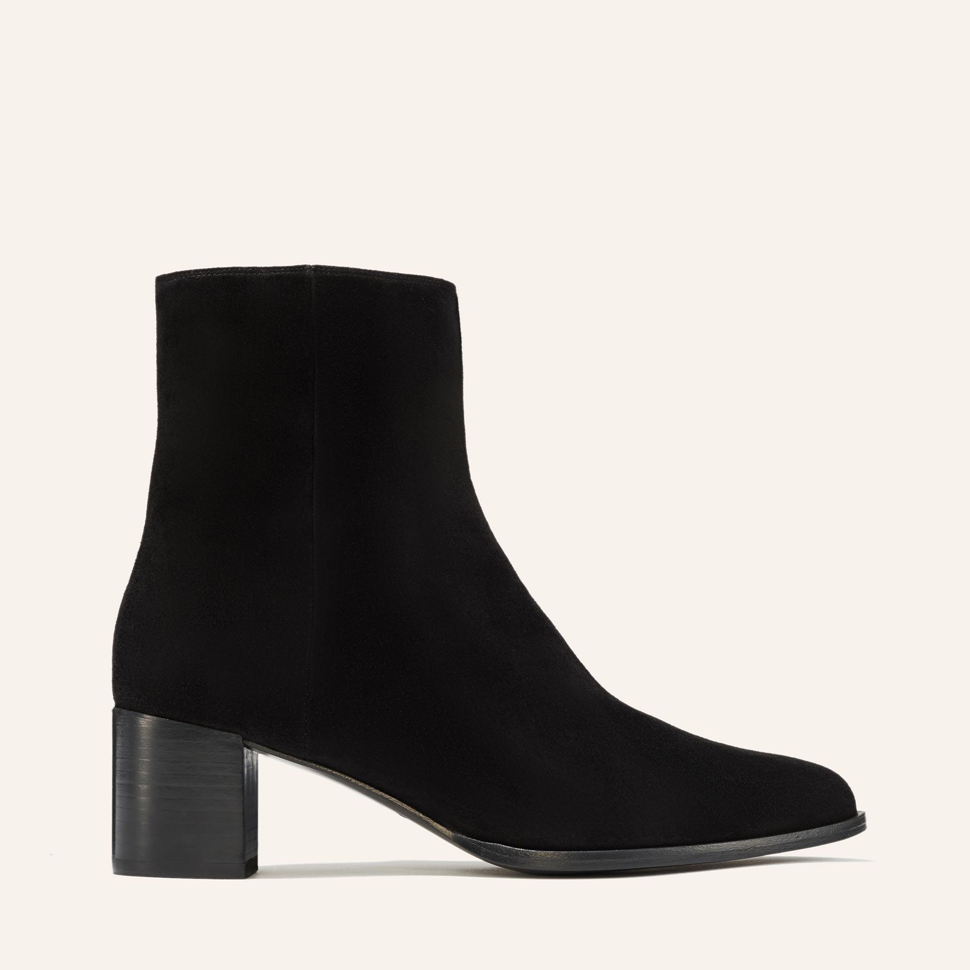 The Downtown Boot - Black Suede