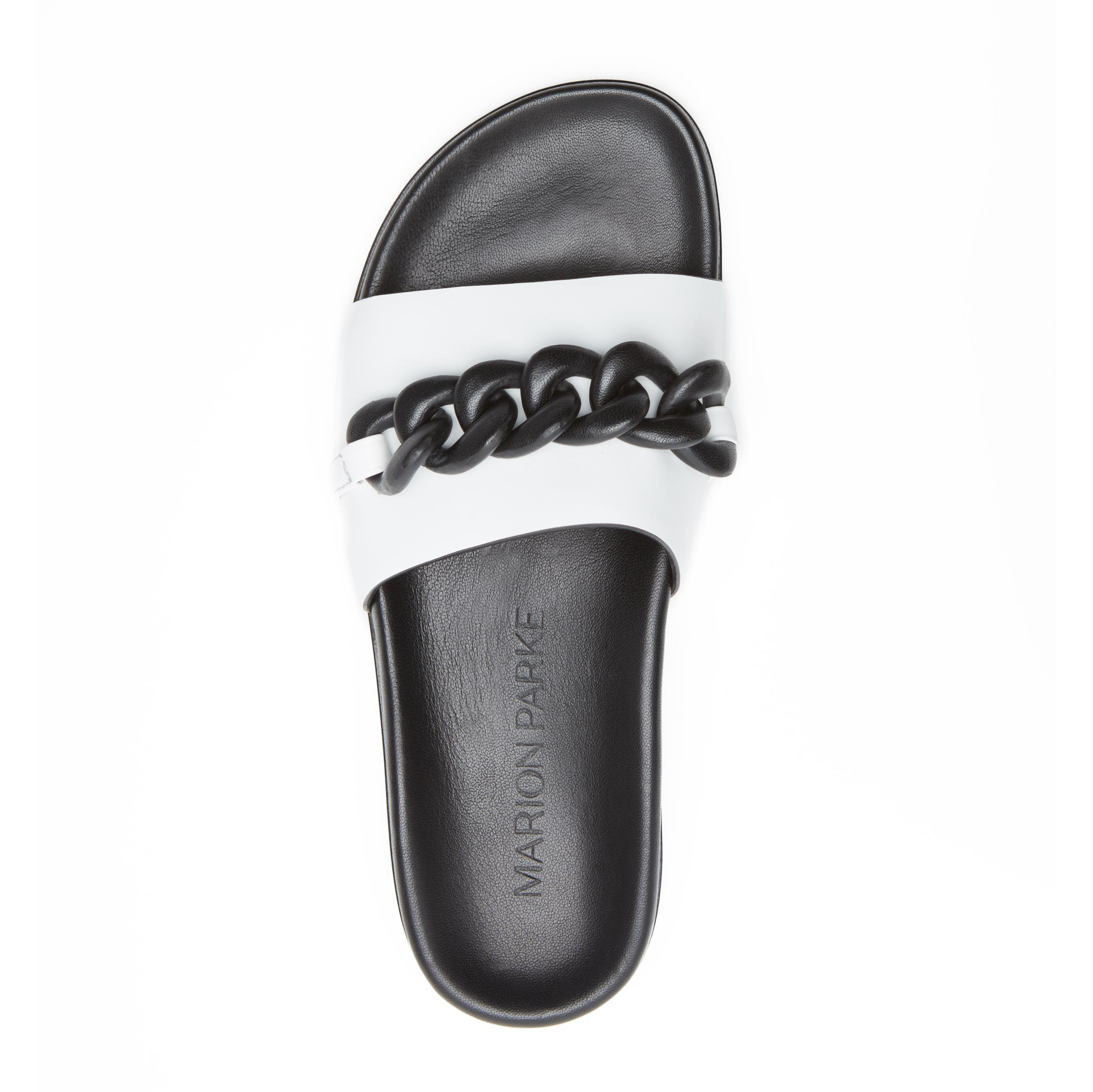 Christine | Leather Chain Sandal with Contoured Footbed 2