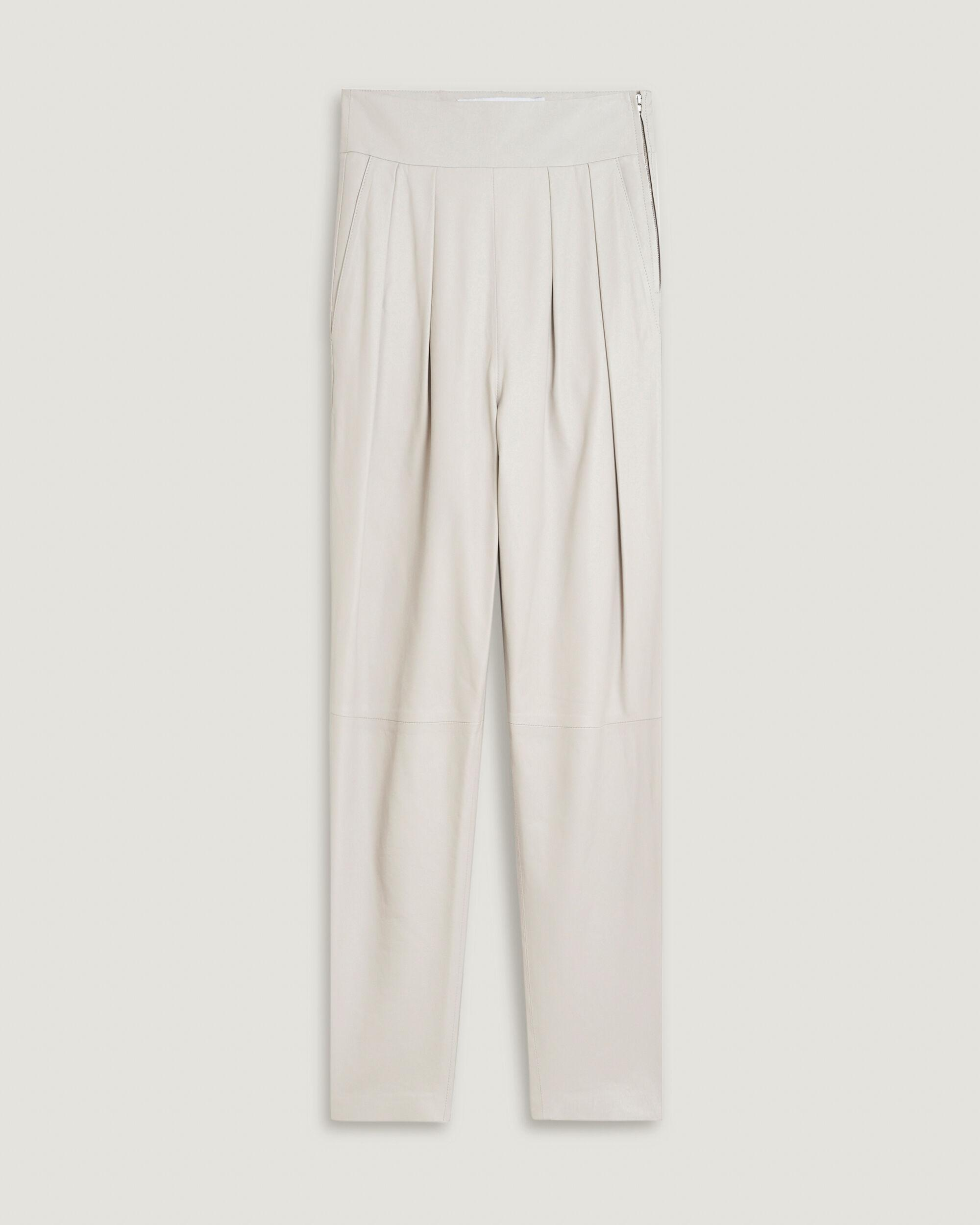 BISHO TAILORED HIGH WAIST LEATHER TROUSERS 3