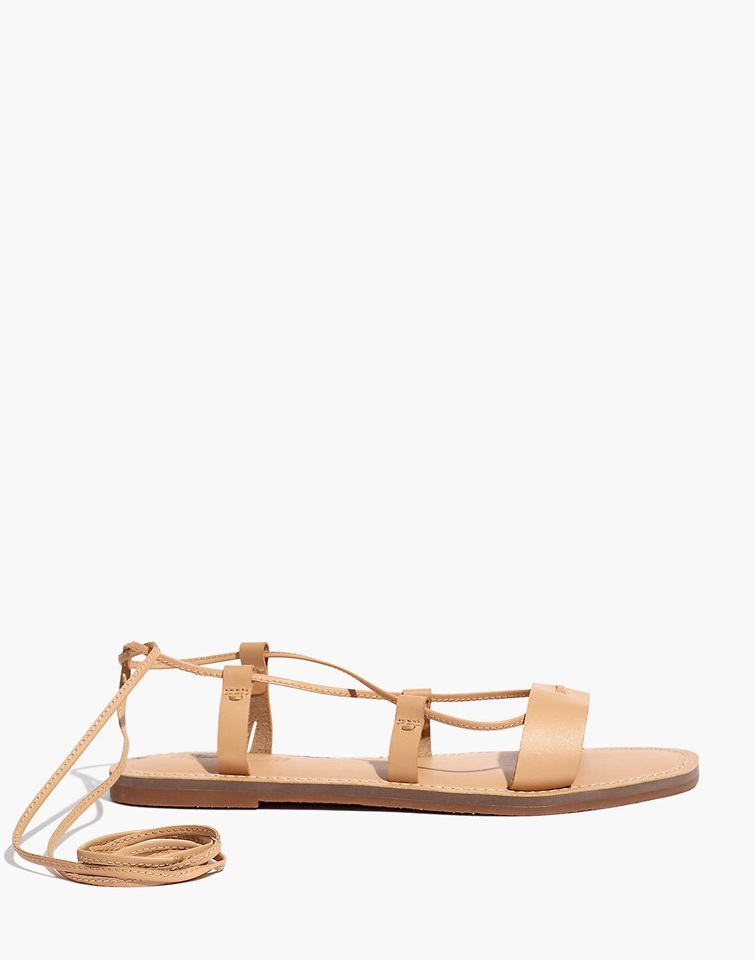 The Boardwalk Lace-Up Sandal in Leather 1