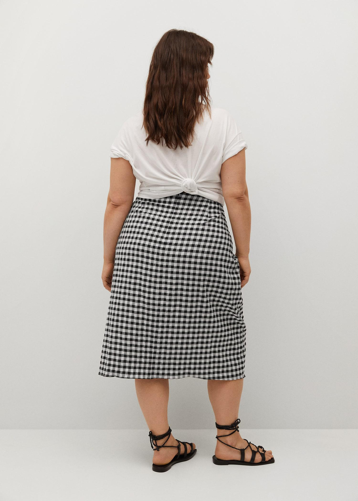 Recycled polyester gathered skirt 2