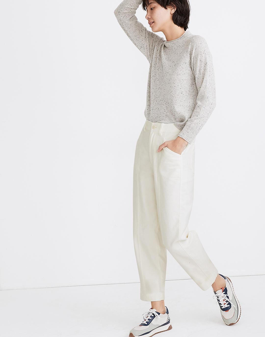 Moleskin High-Rise Seamed Tapered Pants 1