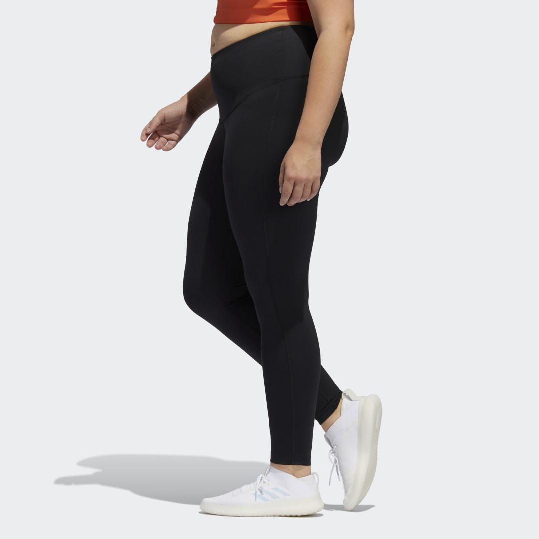 Believe This Solid 7/8 Tights (Plus Size) Black 3