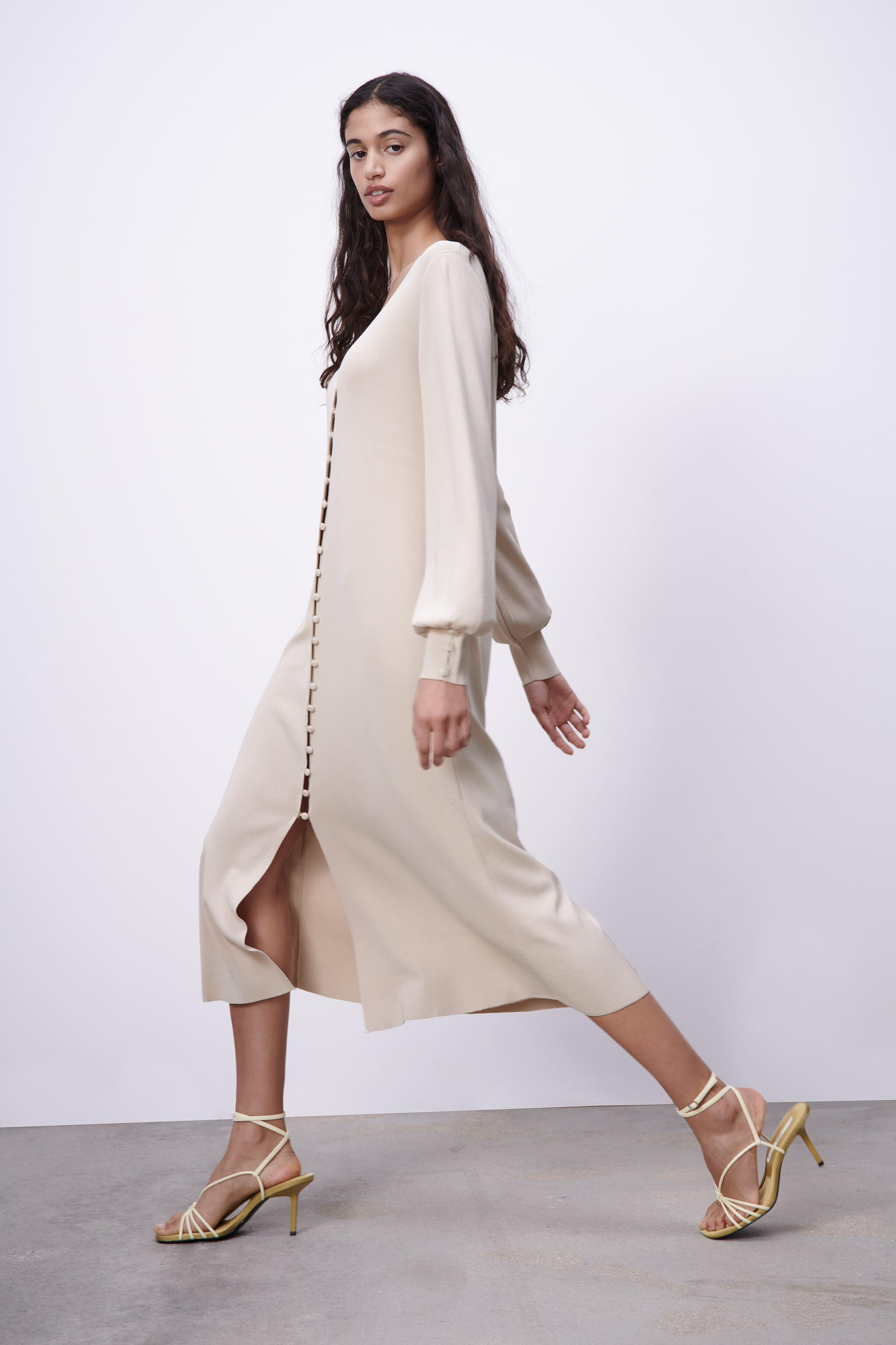 LIMITED EDITION BUTTONED KNIT DRESS 3