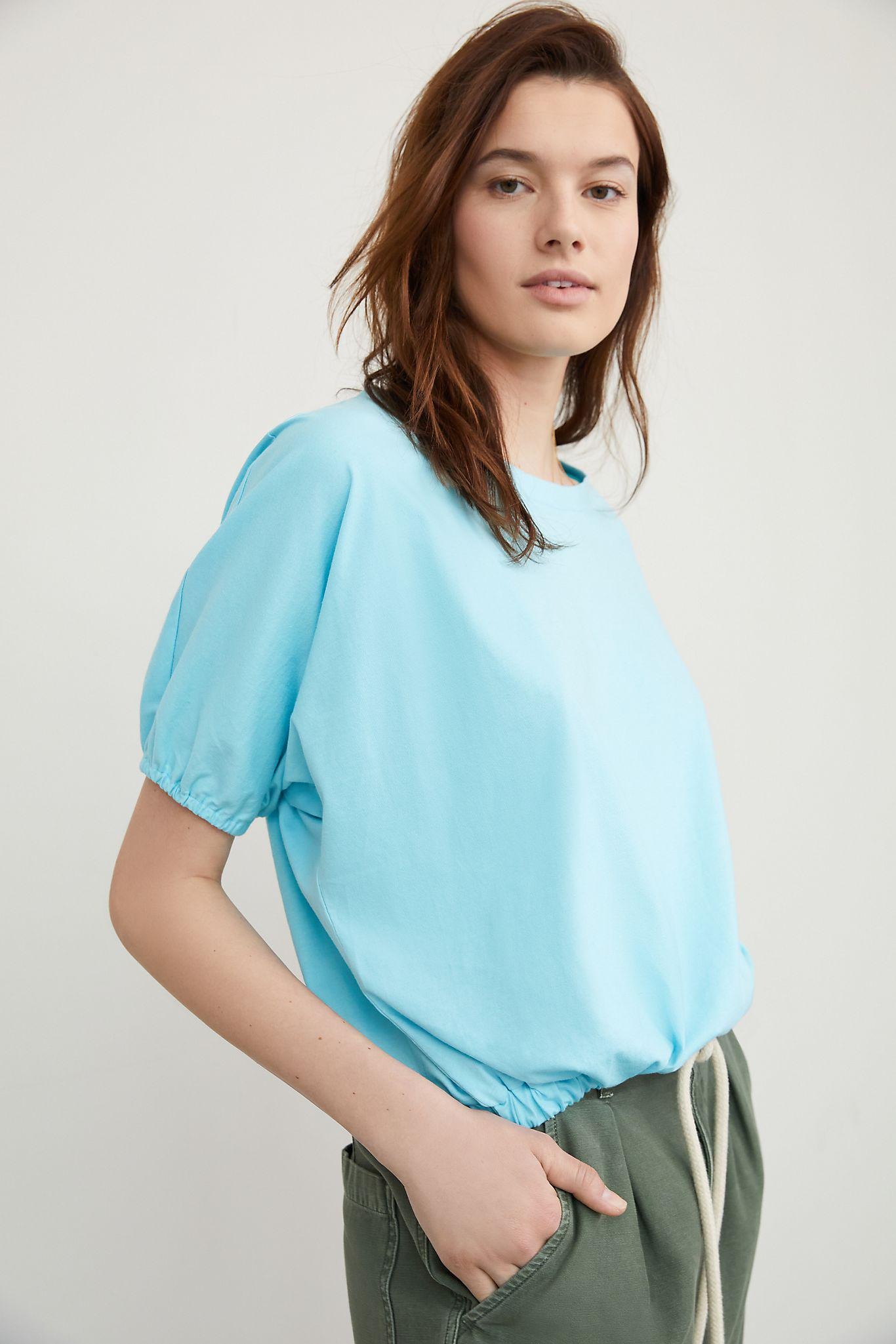 Maeve Cady Puff-Sleeved Top