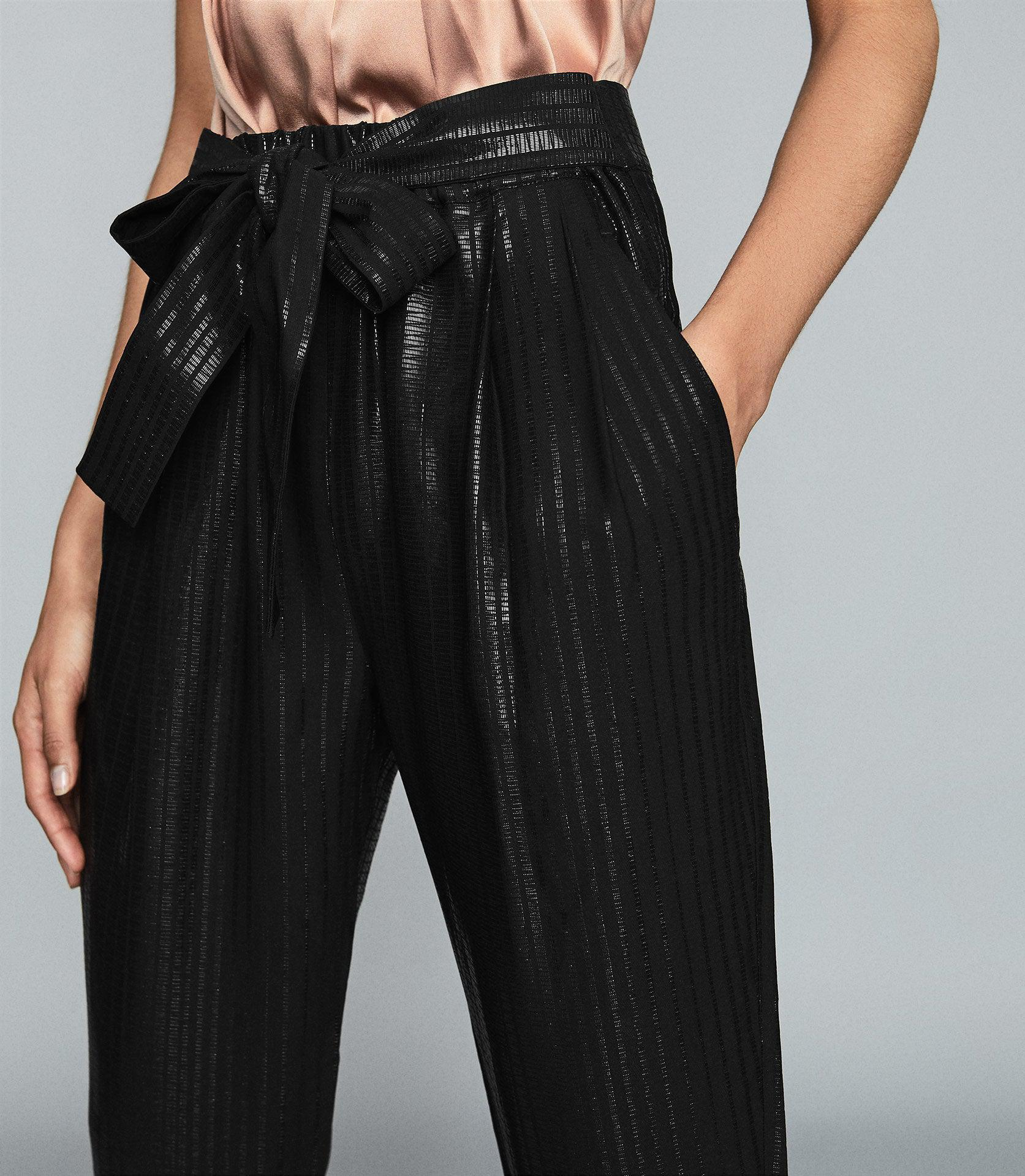 PENNIE - TAPERED SHIMMER TROUSERS 4