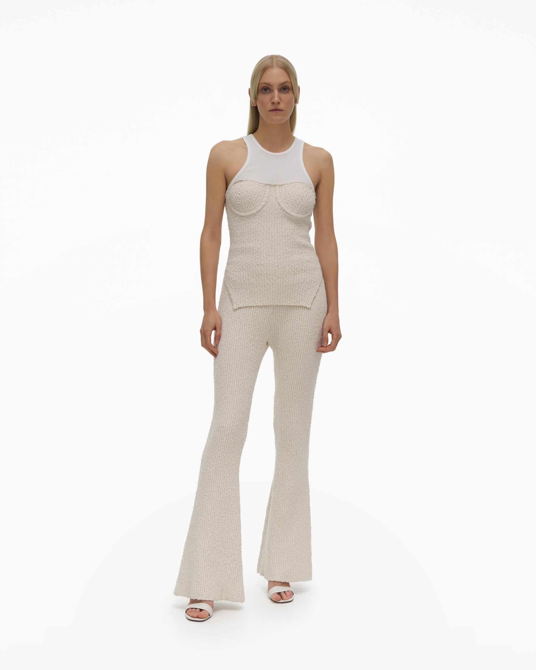 FLARED KNIT PANT