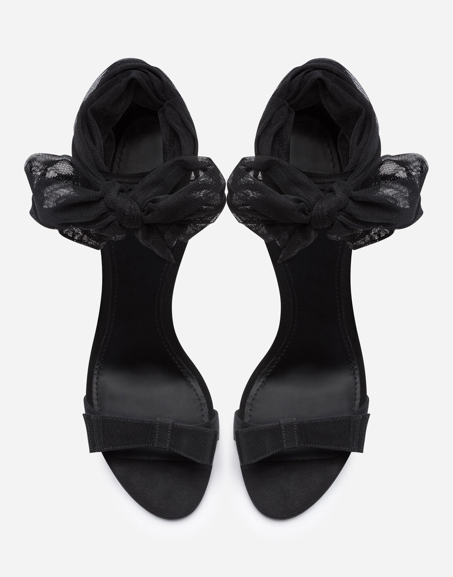 Sandals in stretch tulle and grosgrain 3