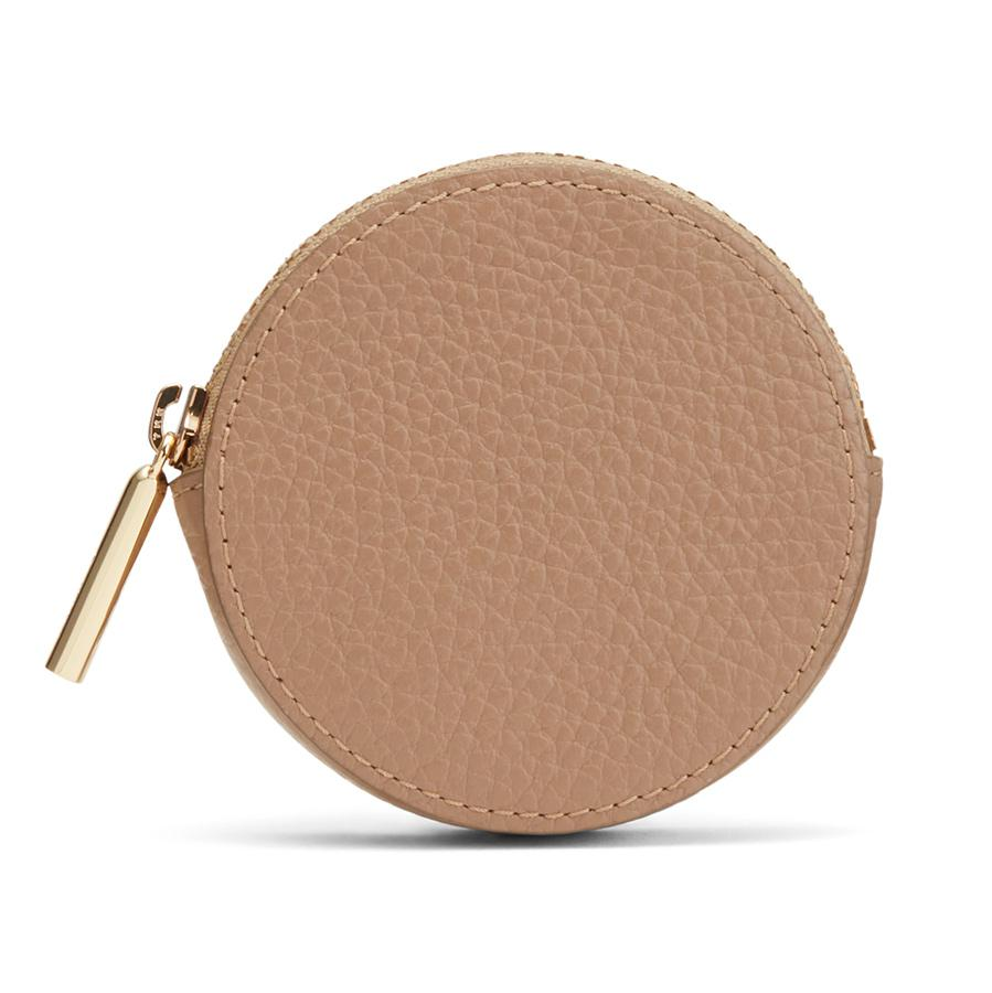 Women's Leather Coin Pouch in Cappuccino | Pebbled Leather by Cuyana 0