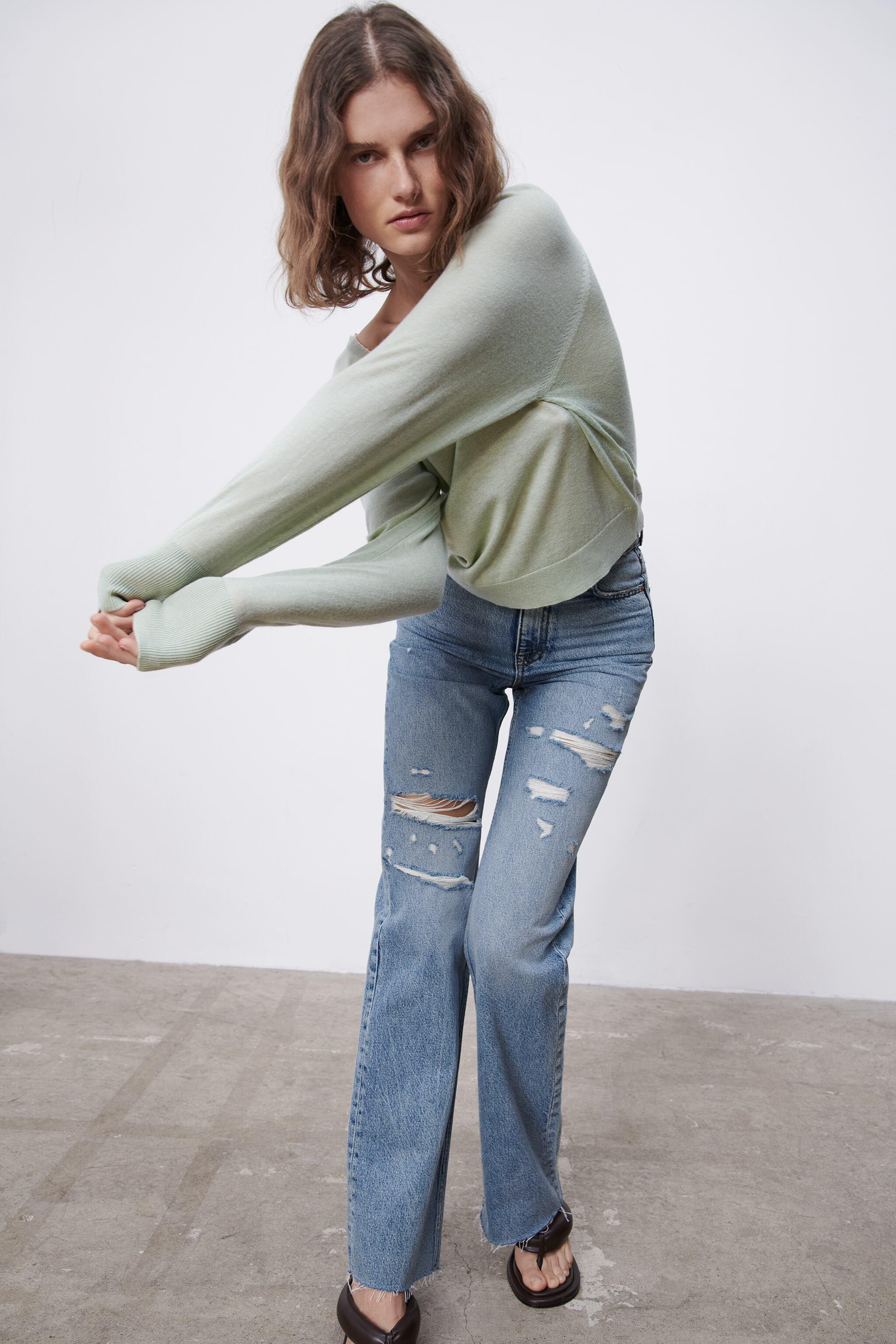 COMBINATION KNIT SWEATER 5