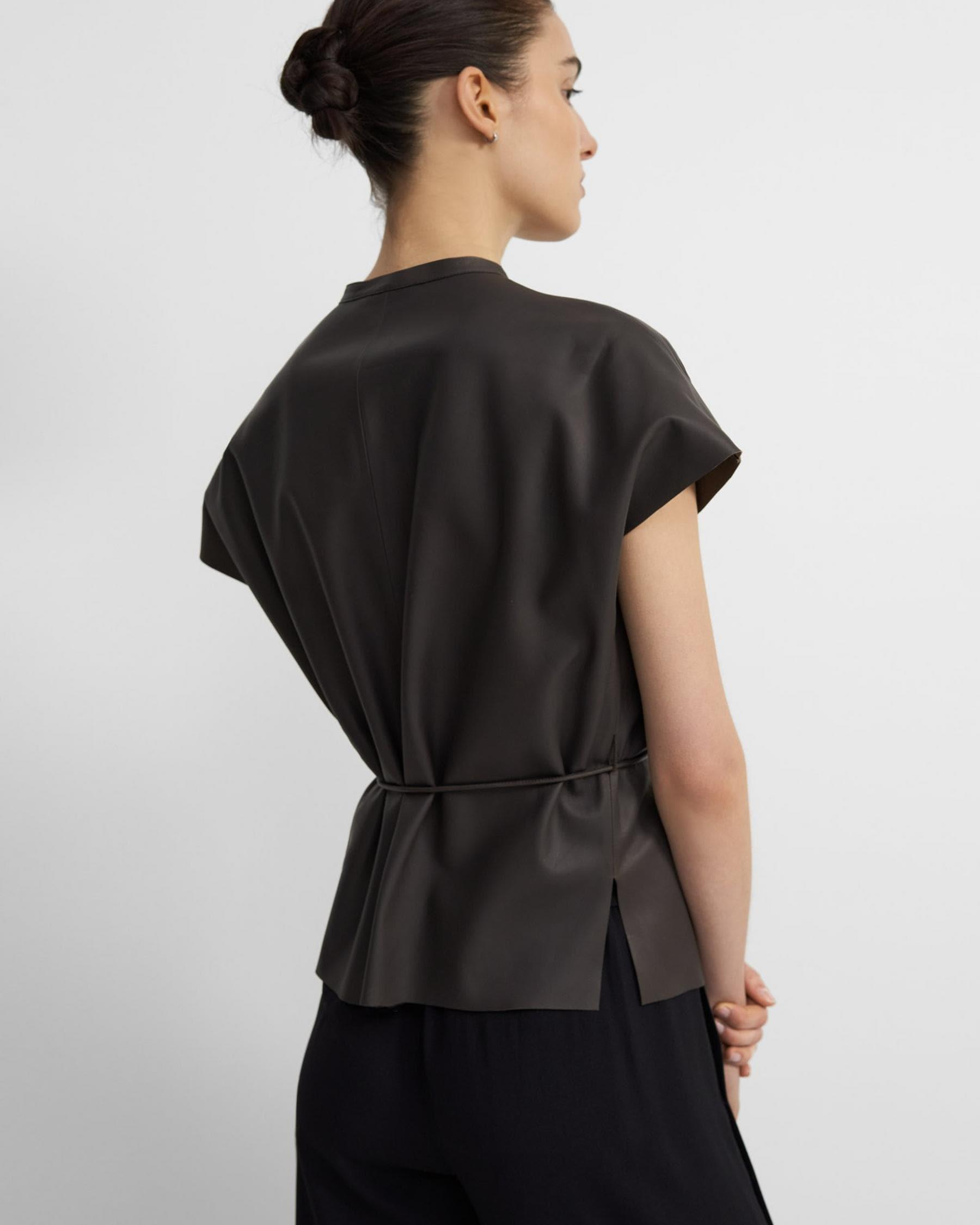 Triangle Shirt in Paper Faux Leather 2