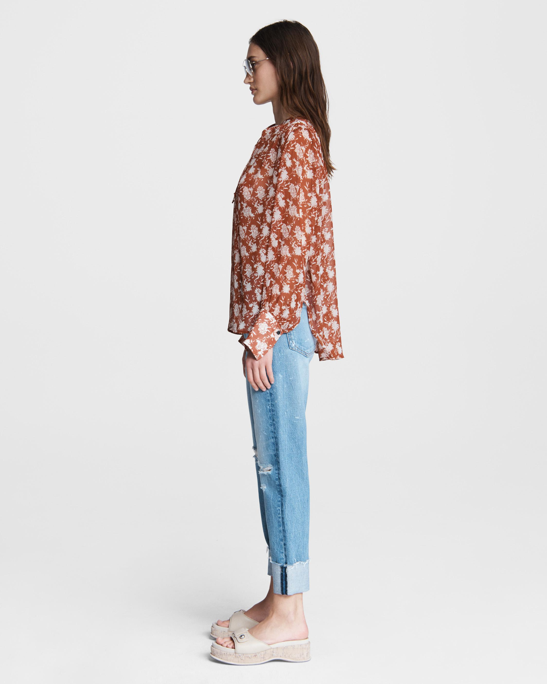 Carly floral tie blouse 2