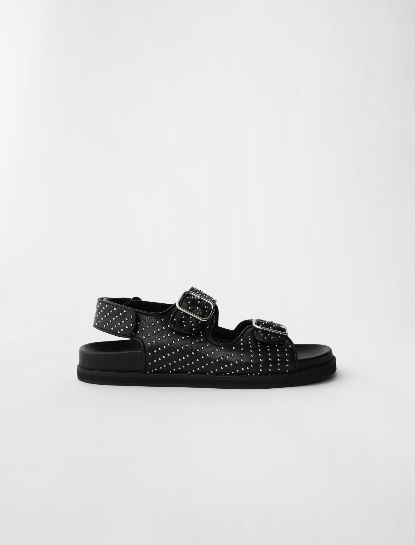 STUDDED SANDALS WITH BUCKLES