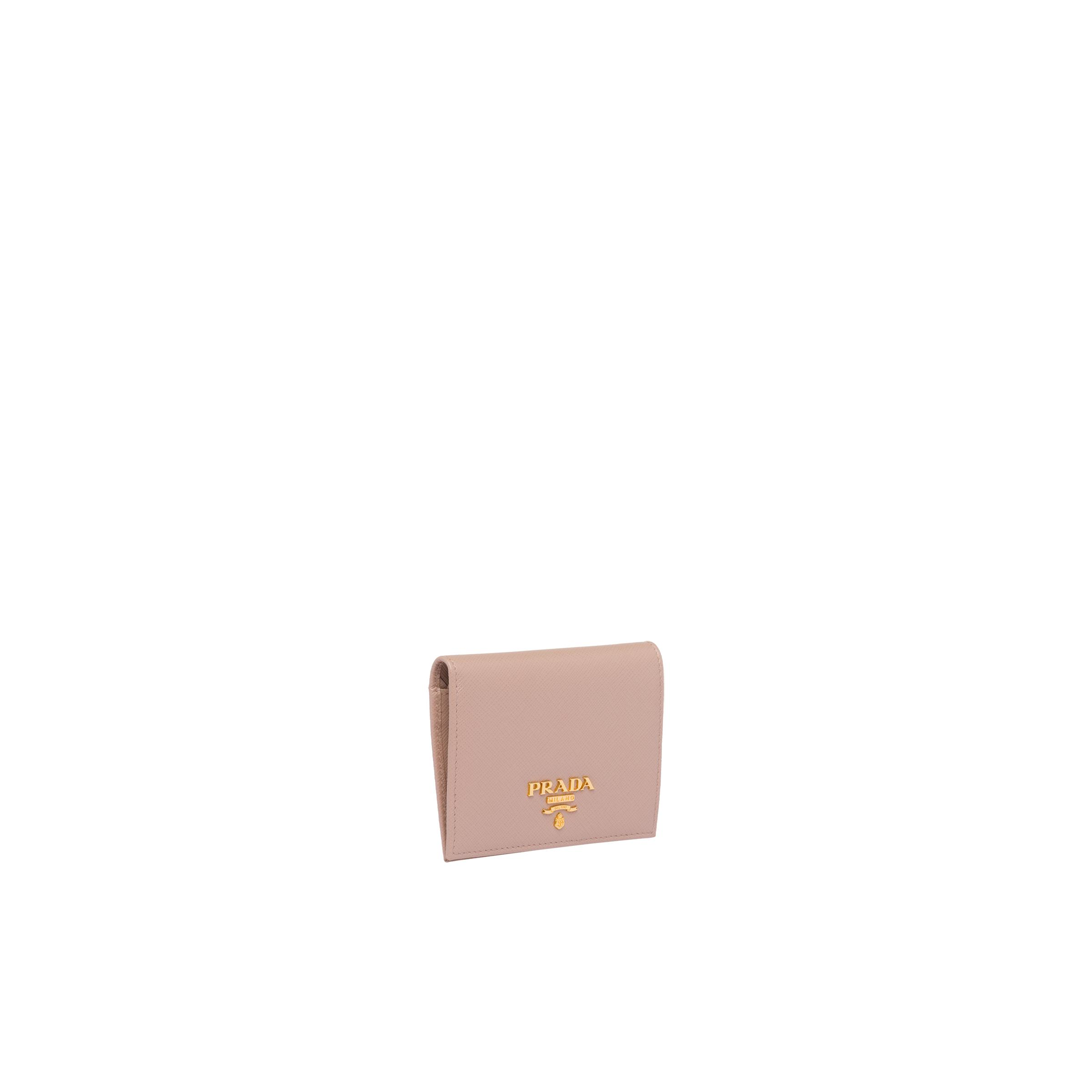 Small Saffiano Leather Wallet Women Powder Pink 3