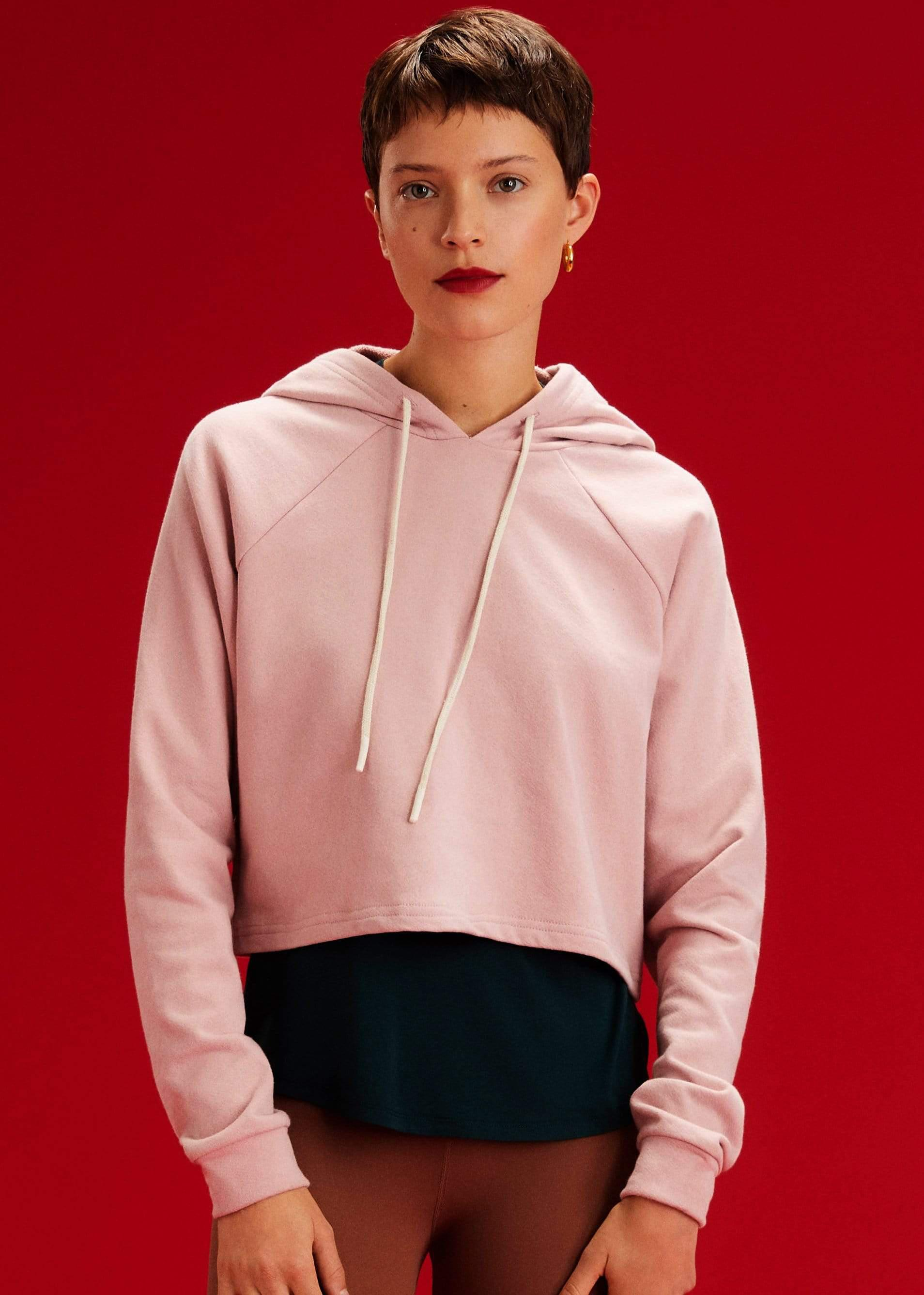 Zoey French Terry Hoodie - Blush