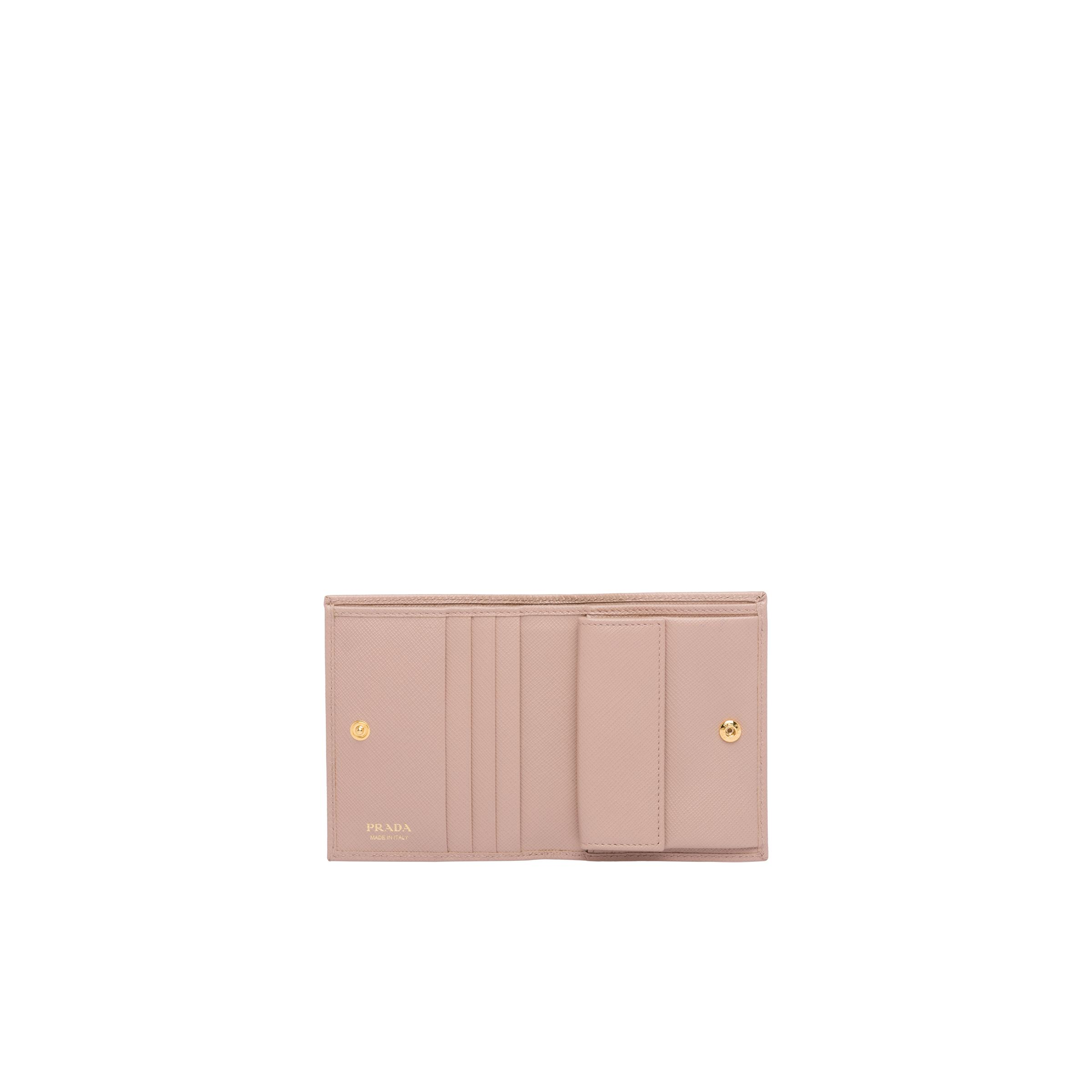 Small Saffiano Leather Wallet Women Powder Pink 1